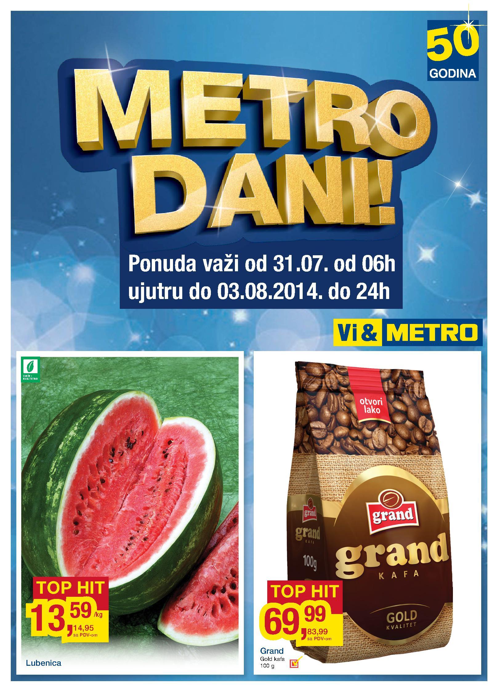 Metro akcija produženi vikend super cena