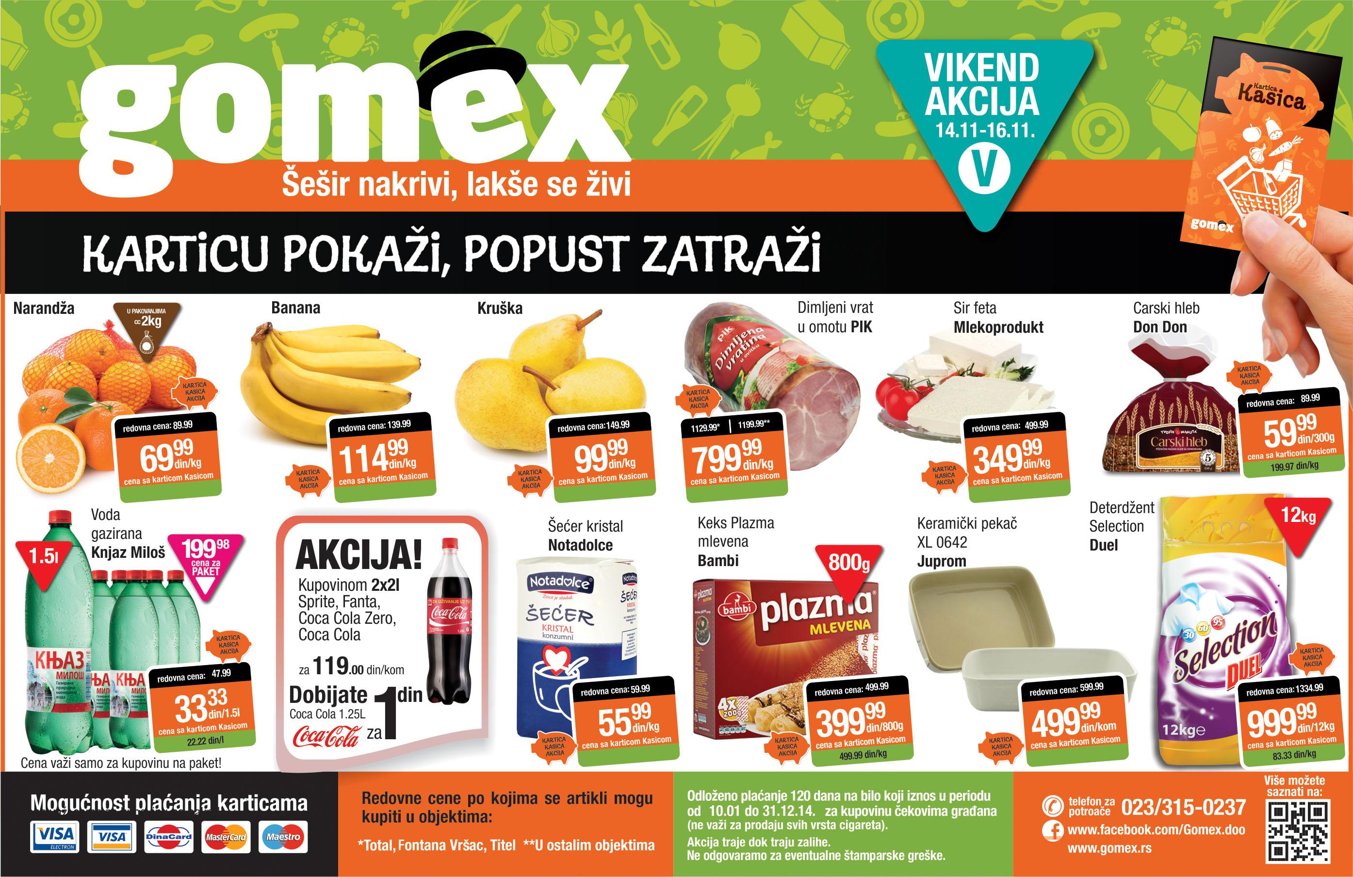 Gomex akcija počinje vikend super cena