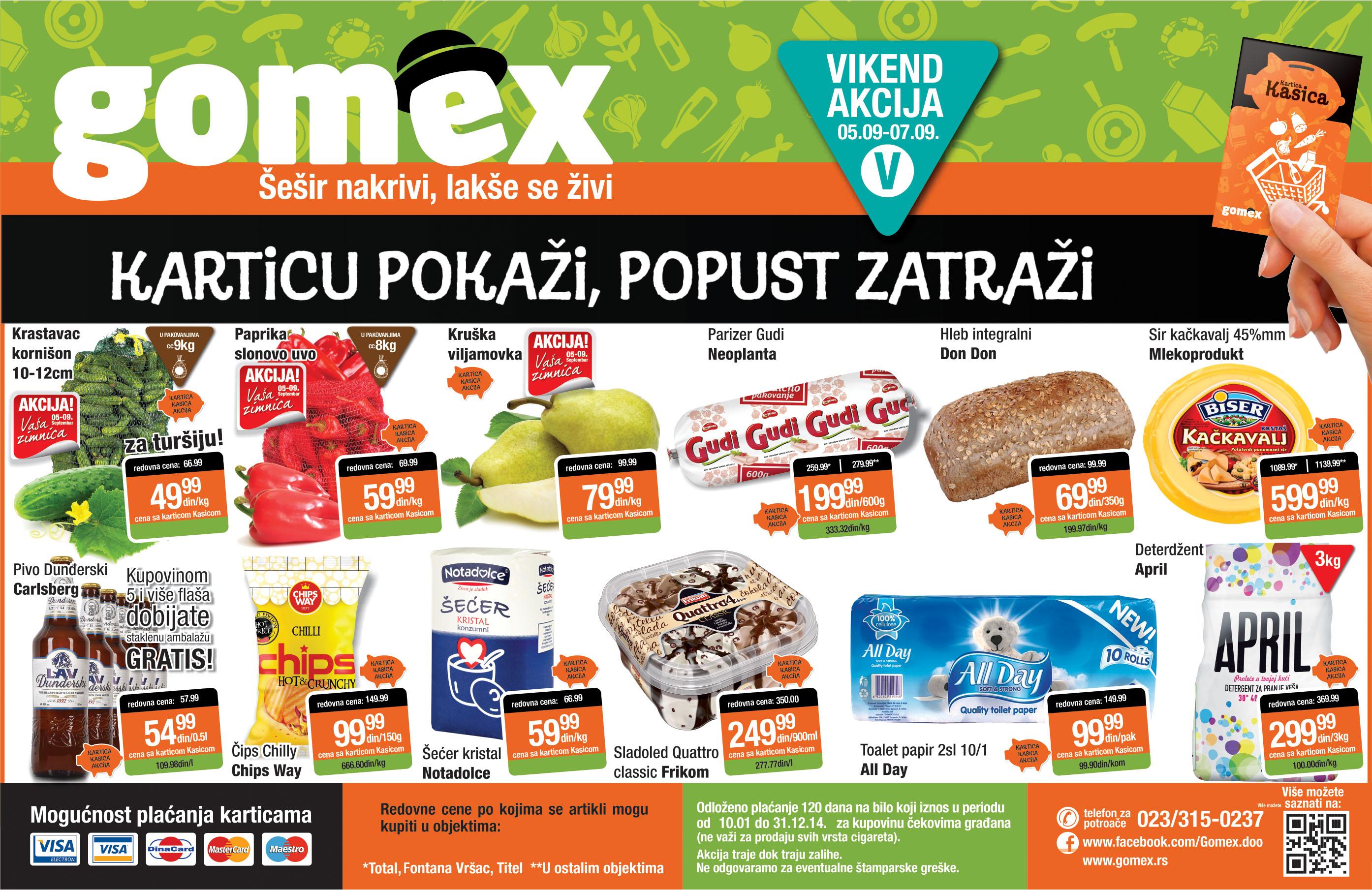 Gomex akcija vikend sjajne ponude samo za vas