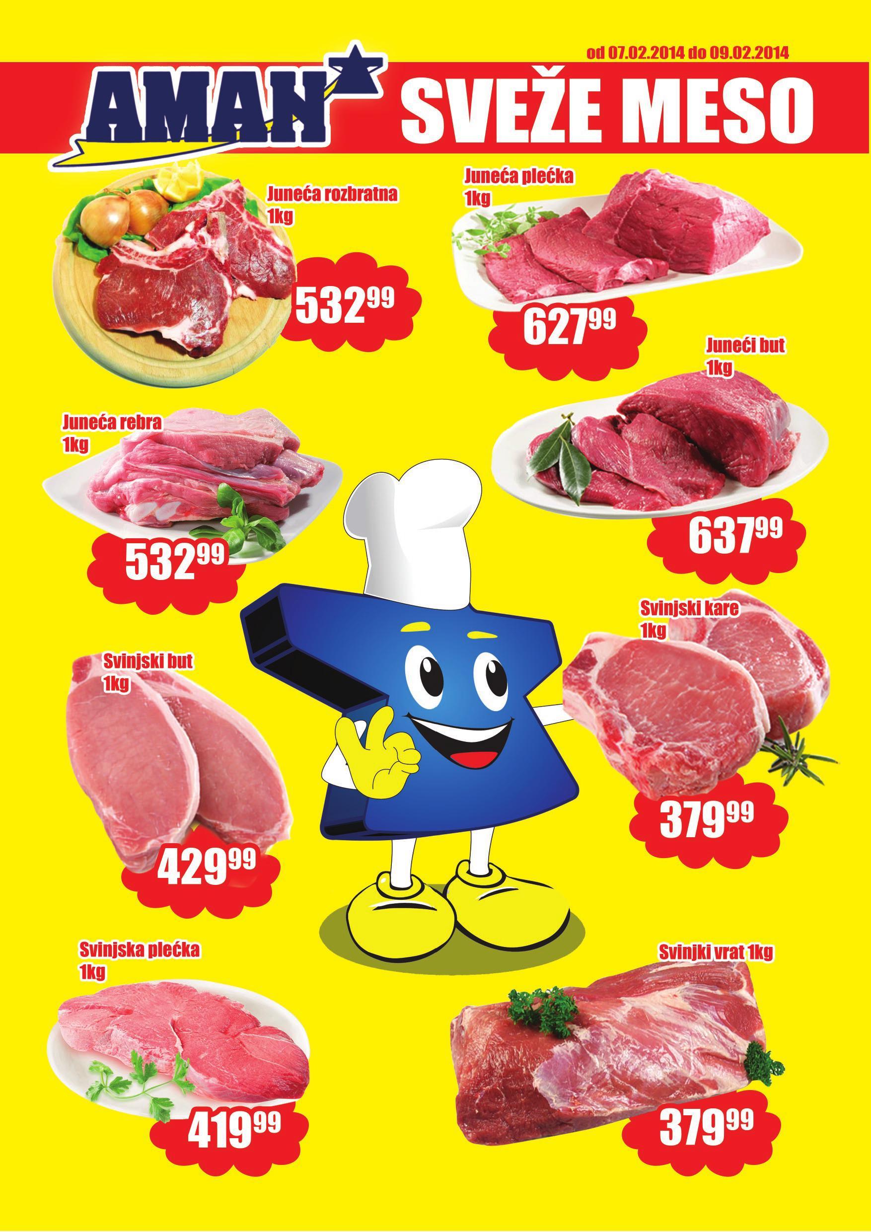 Aman katalog vikend ponuda svežeg mesa