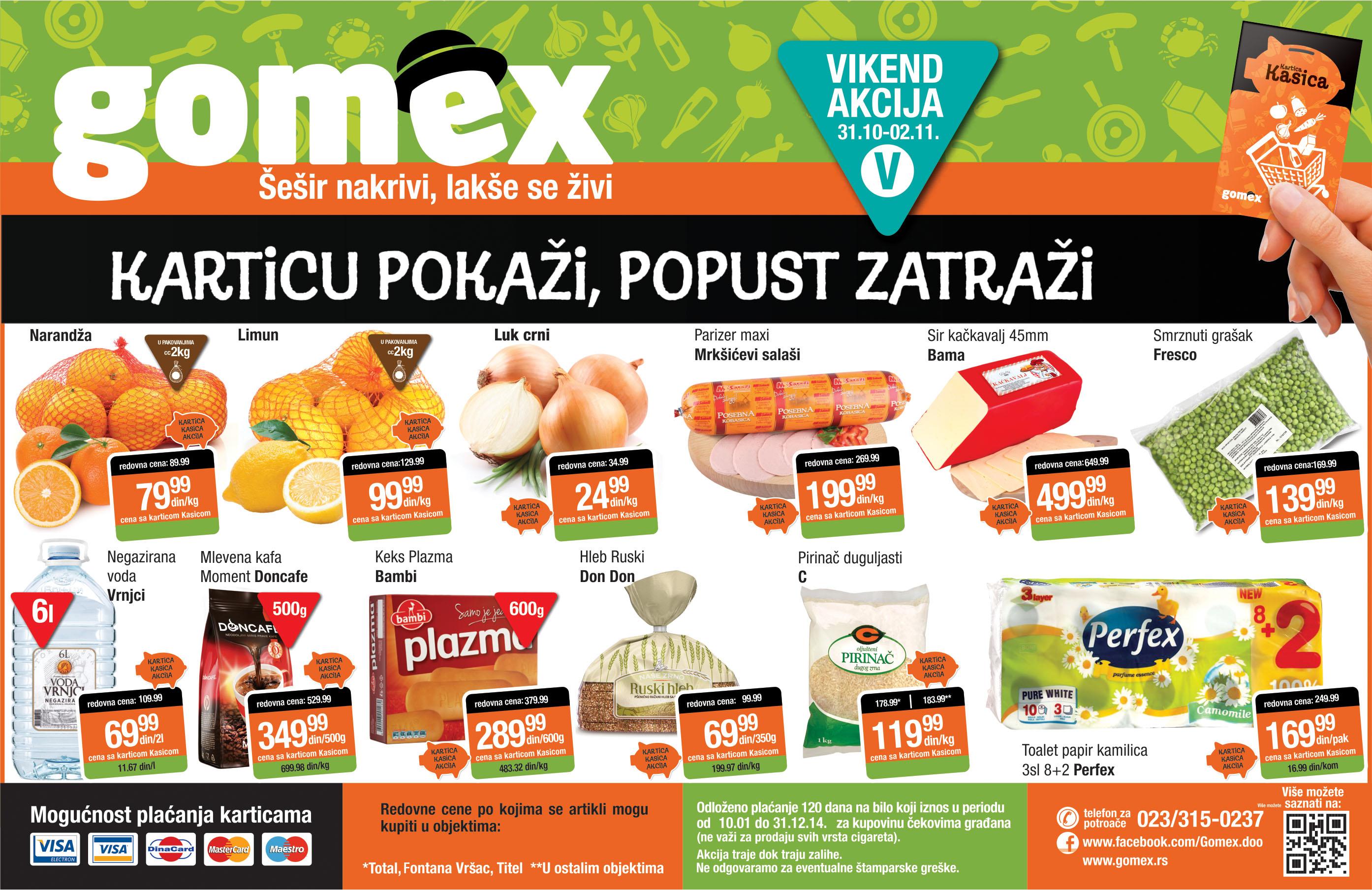 Gomex akcija vikend odlične ponude počinje