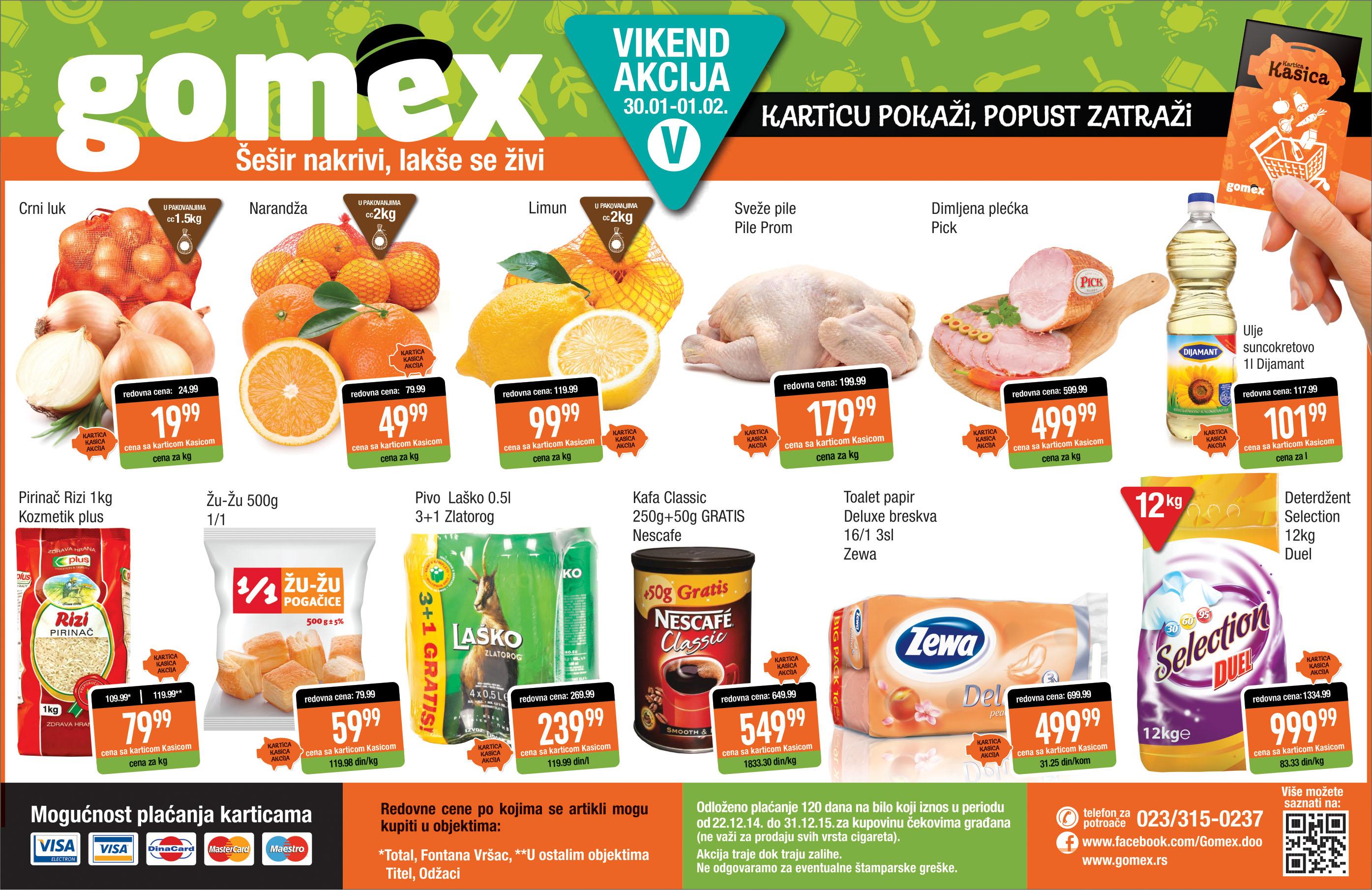 Gomex akcija vikend  sjajne ponude može da počne