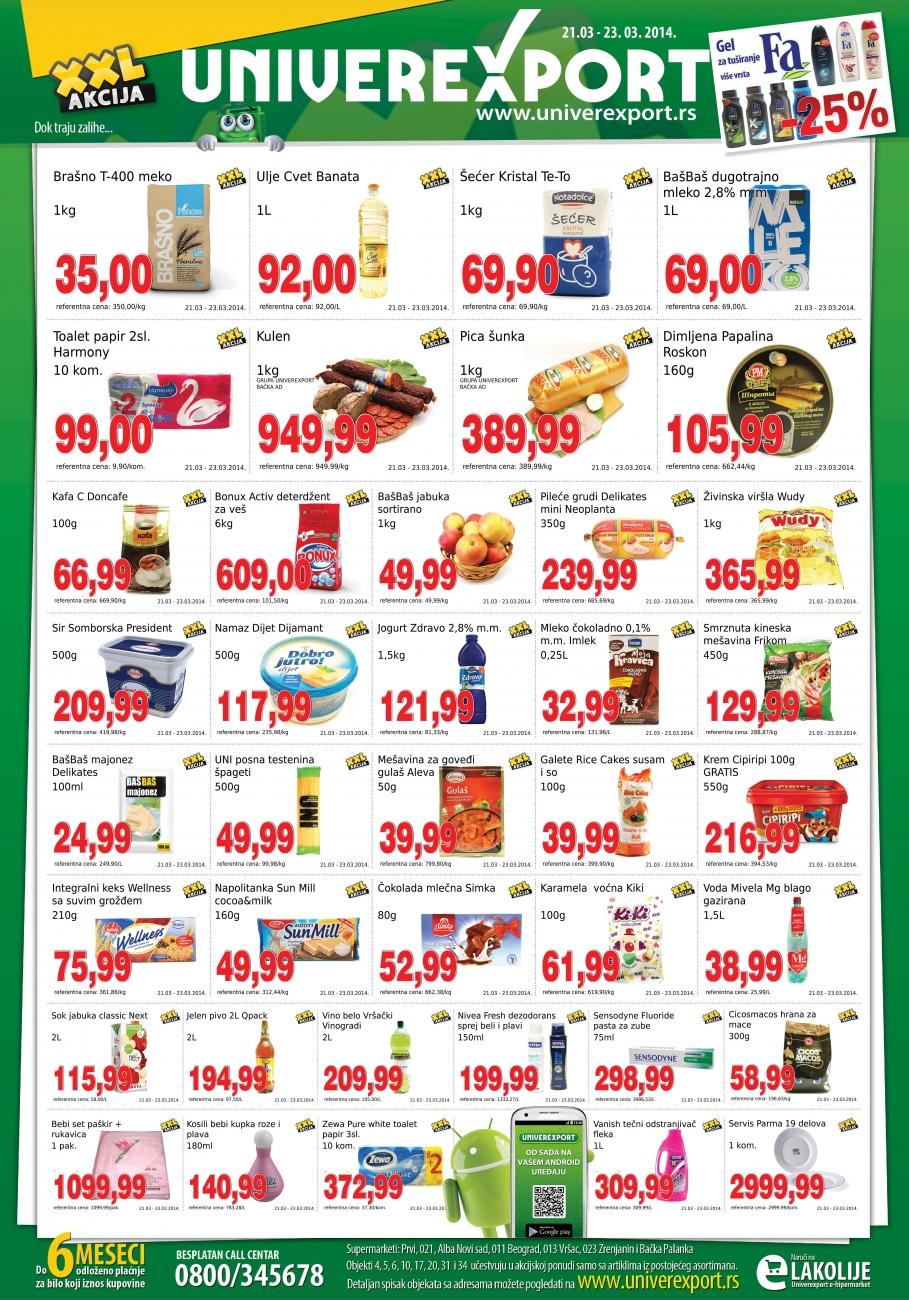 Univerexport katalog vikend super cena za vas