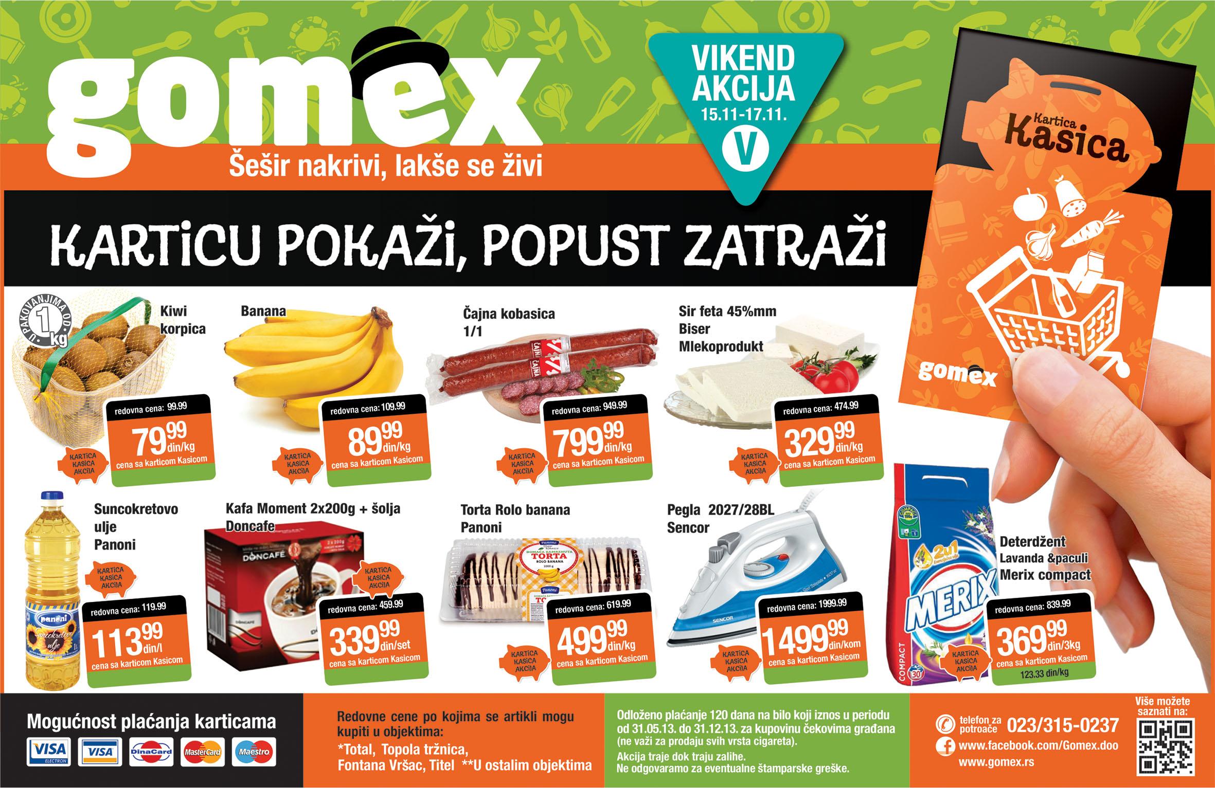 Gomex katalog vikend dobrih cena