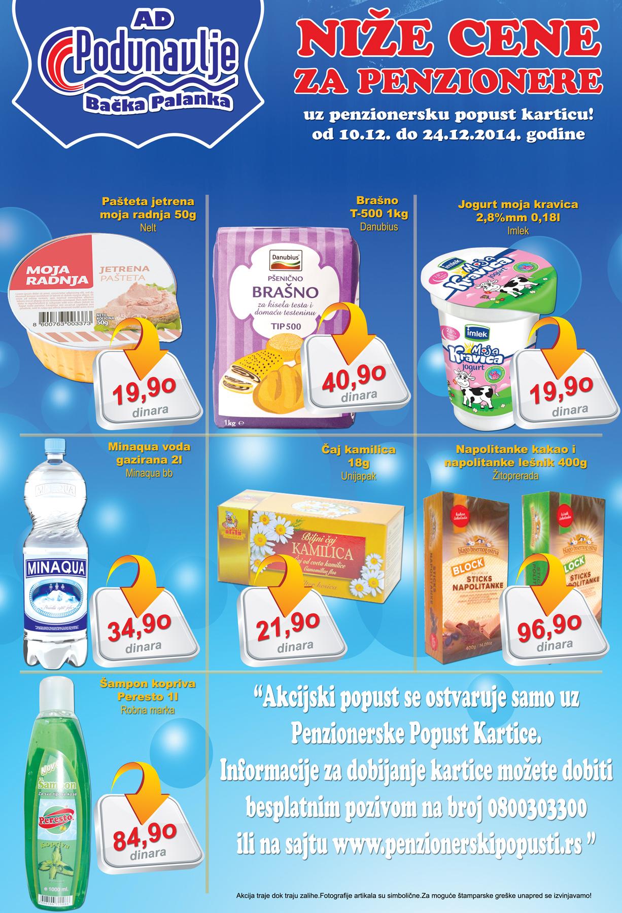 AD Podunavlje akcija super cene za penzionere