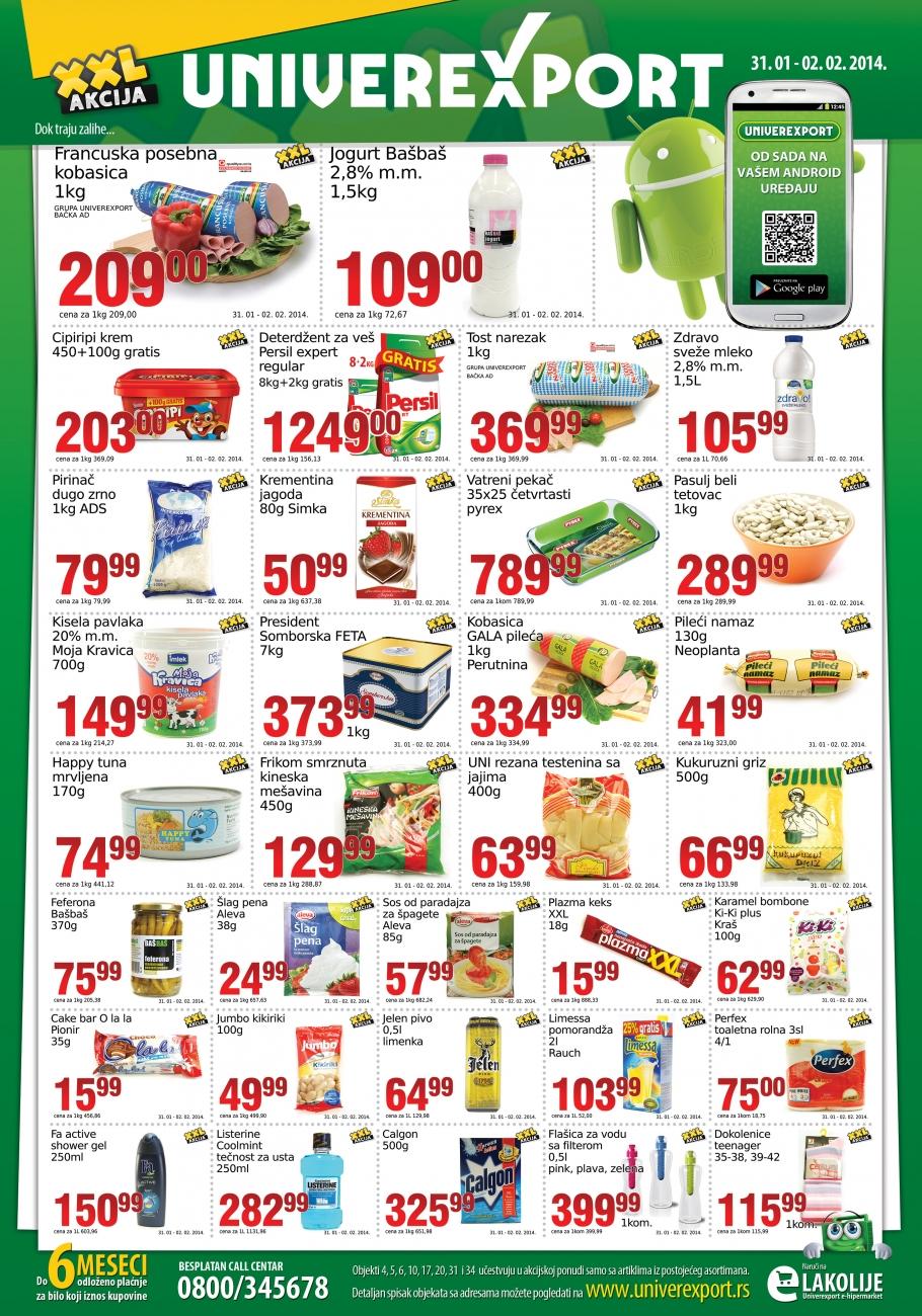 Univerexport katalog vikend odlične kupovine za vas