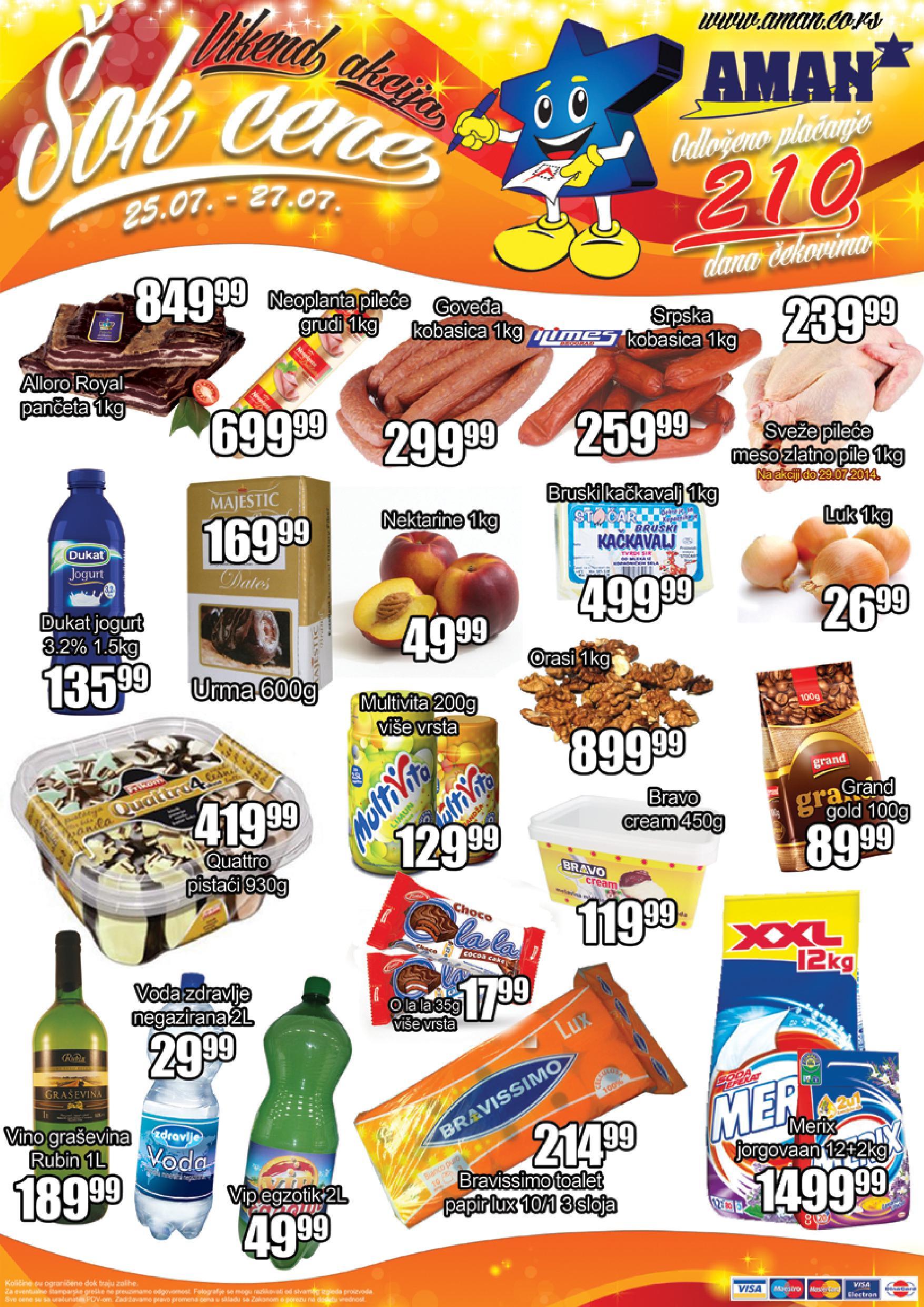 Aman akcija vikend super cena je sprmna