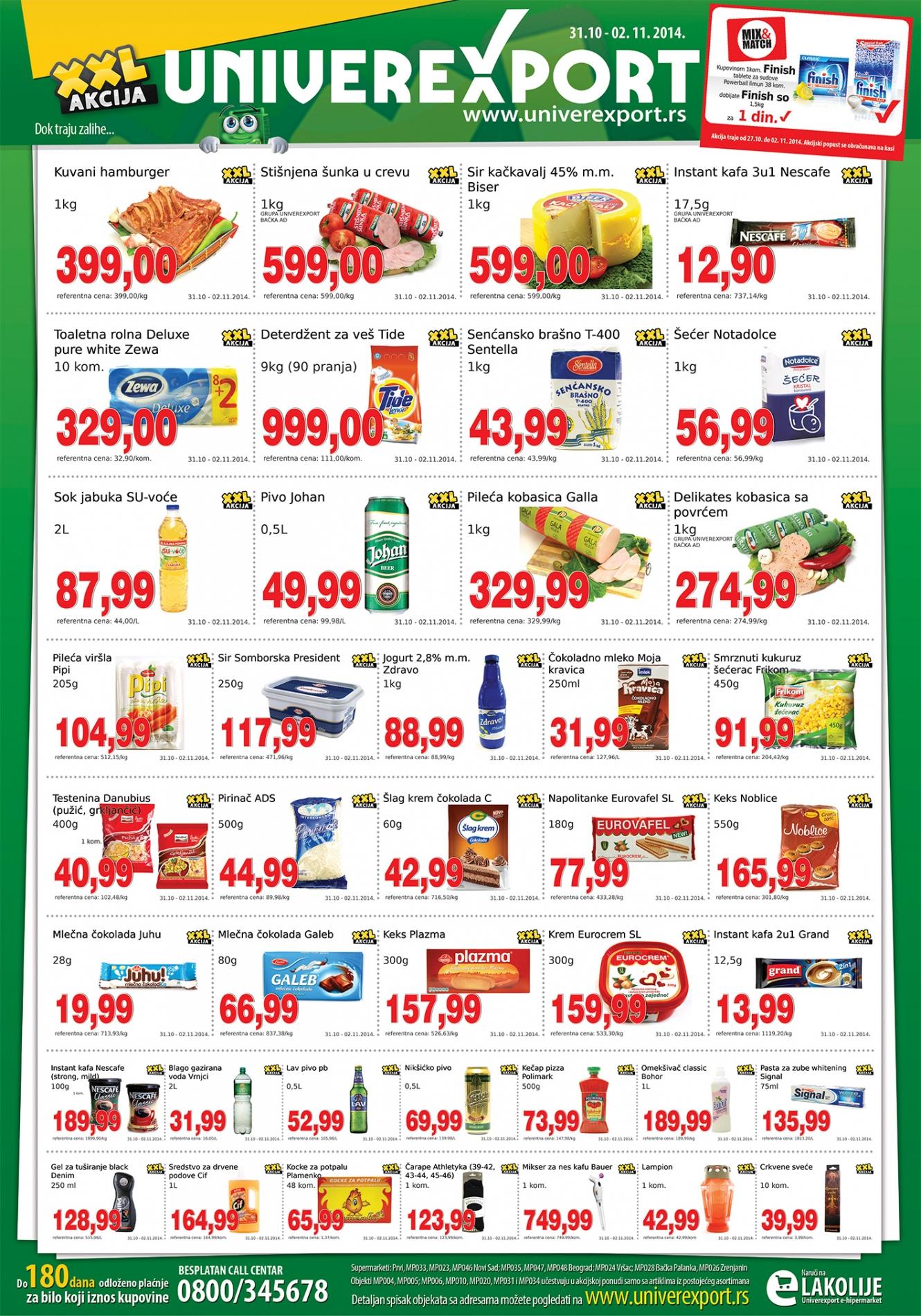 Univerexport akcija super kupovina za vas