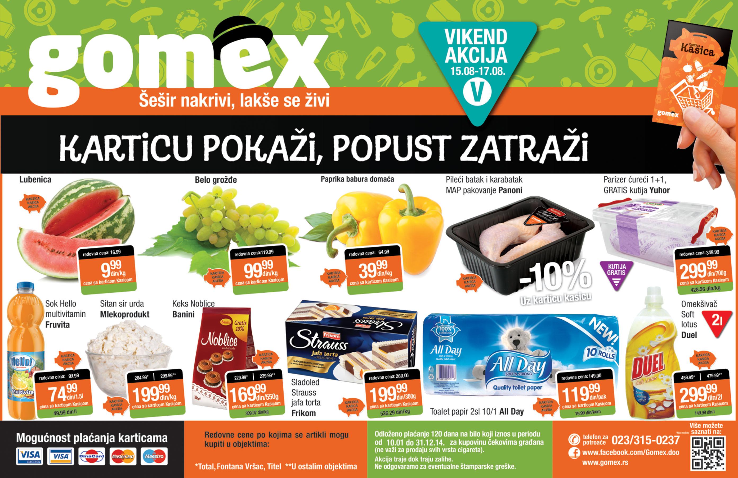 Gomex akcija sjajnih vikend cena