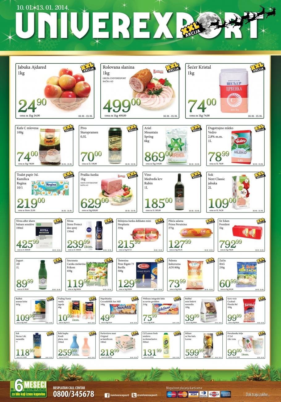 Univerexport katalog vikend novogodišnje ponude
