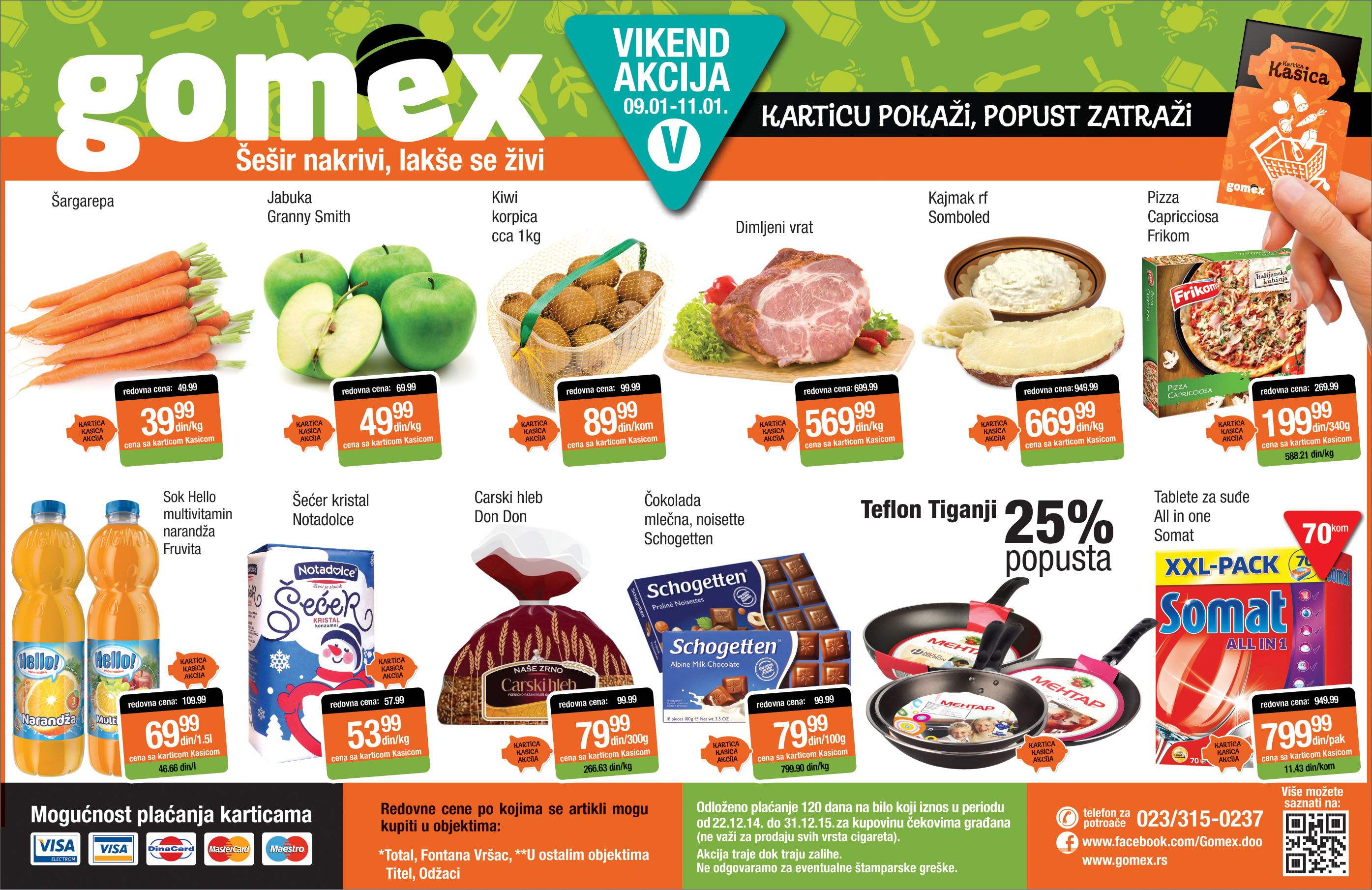 Gomex akcija vikend praznične ponude