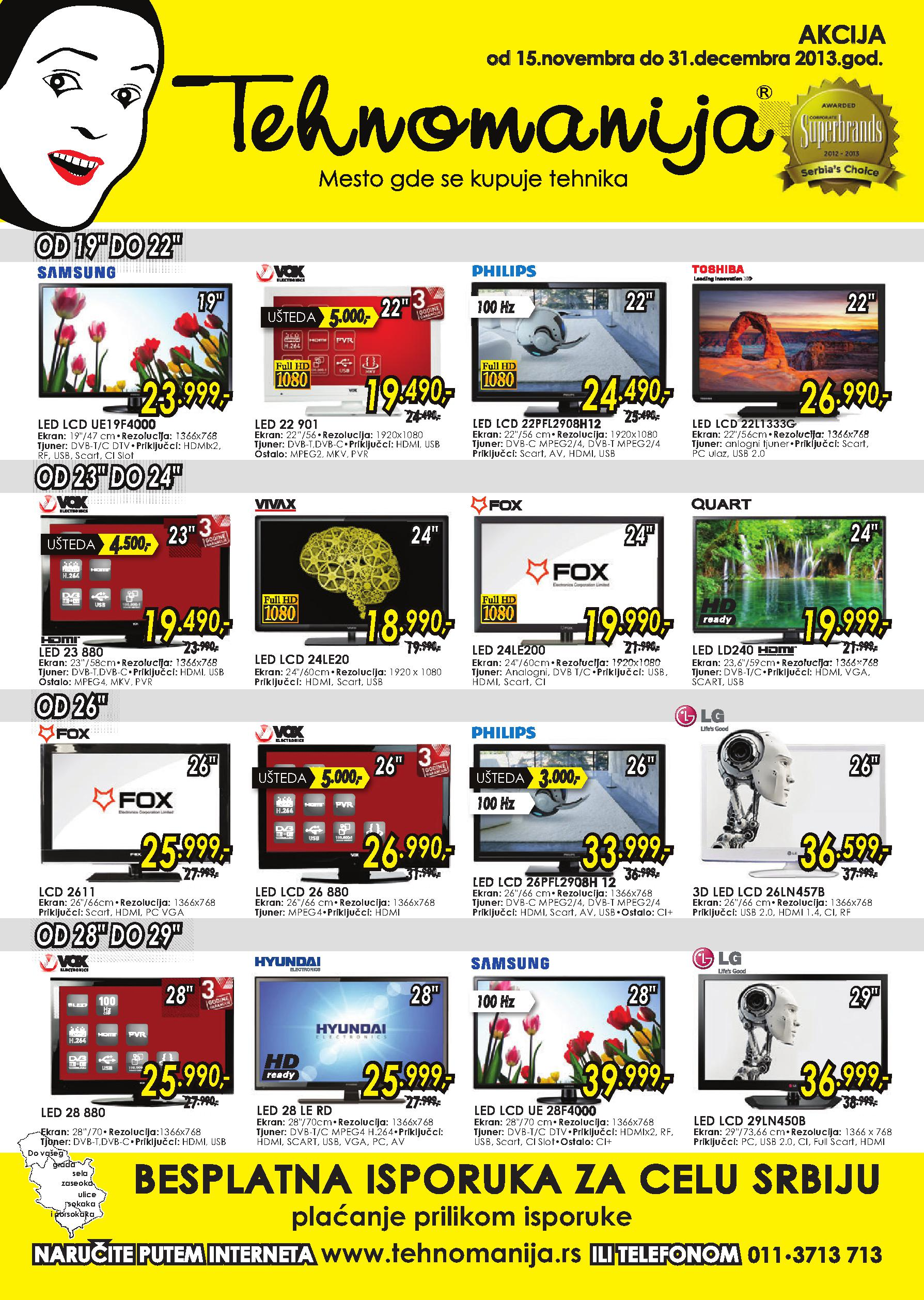 Tehnomanija katalog odlična ponuda TV aparata