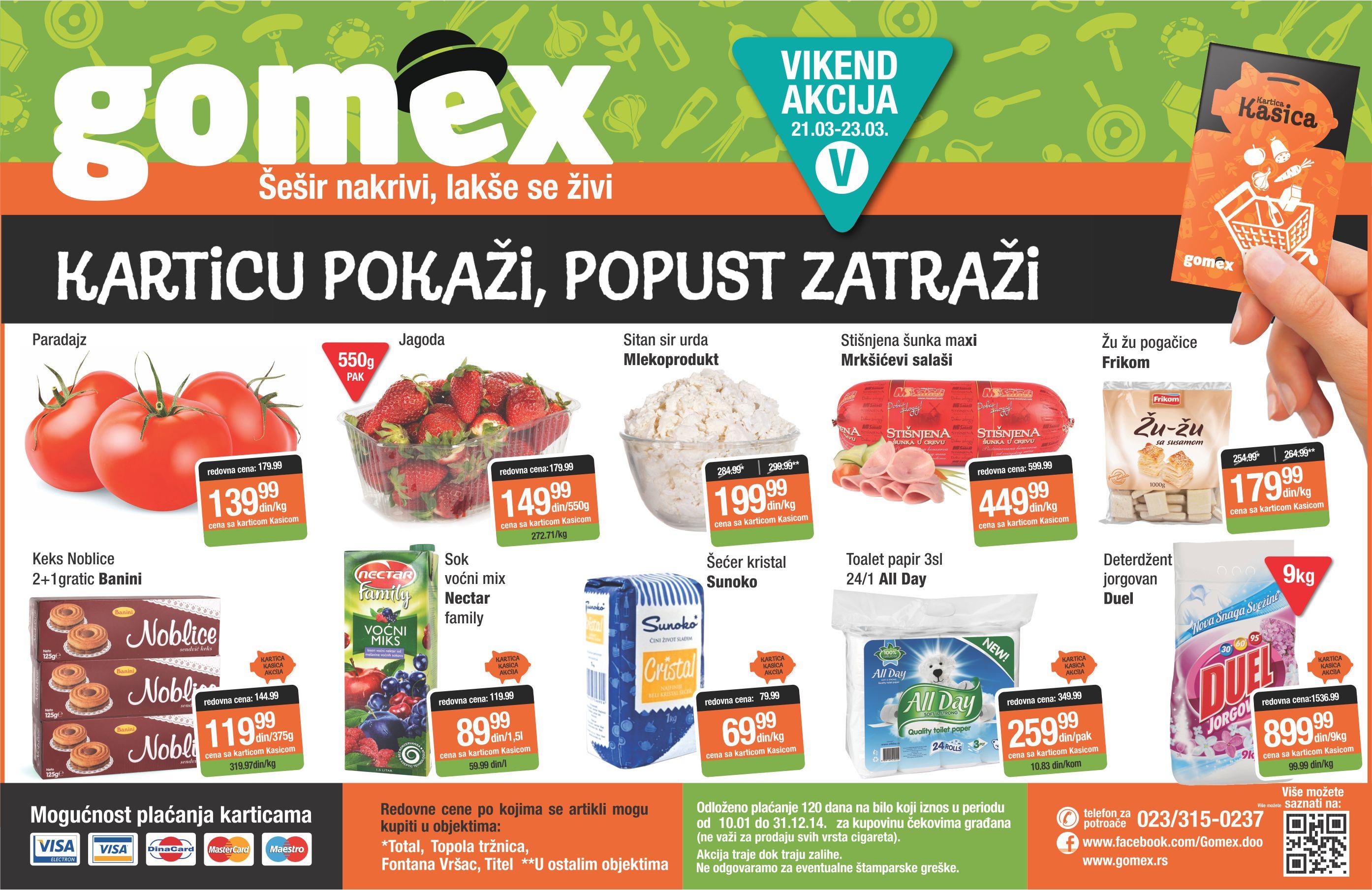 Gomex katalog vikend super cena je spreman
