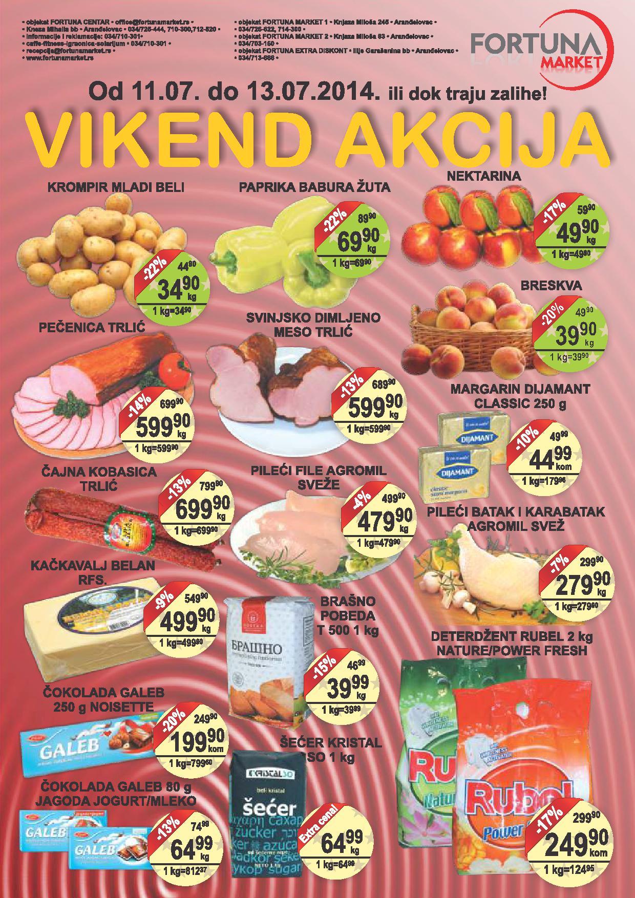 Fortuna market akcija vikend sjajnih cena