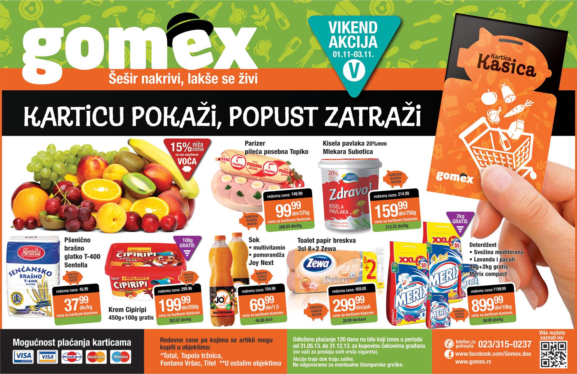Gomex katalog vikend super popusta