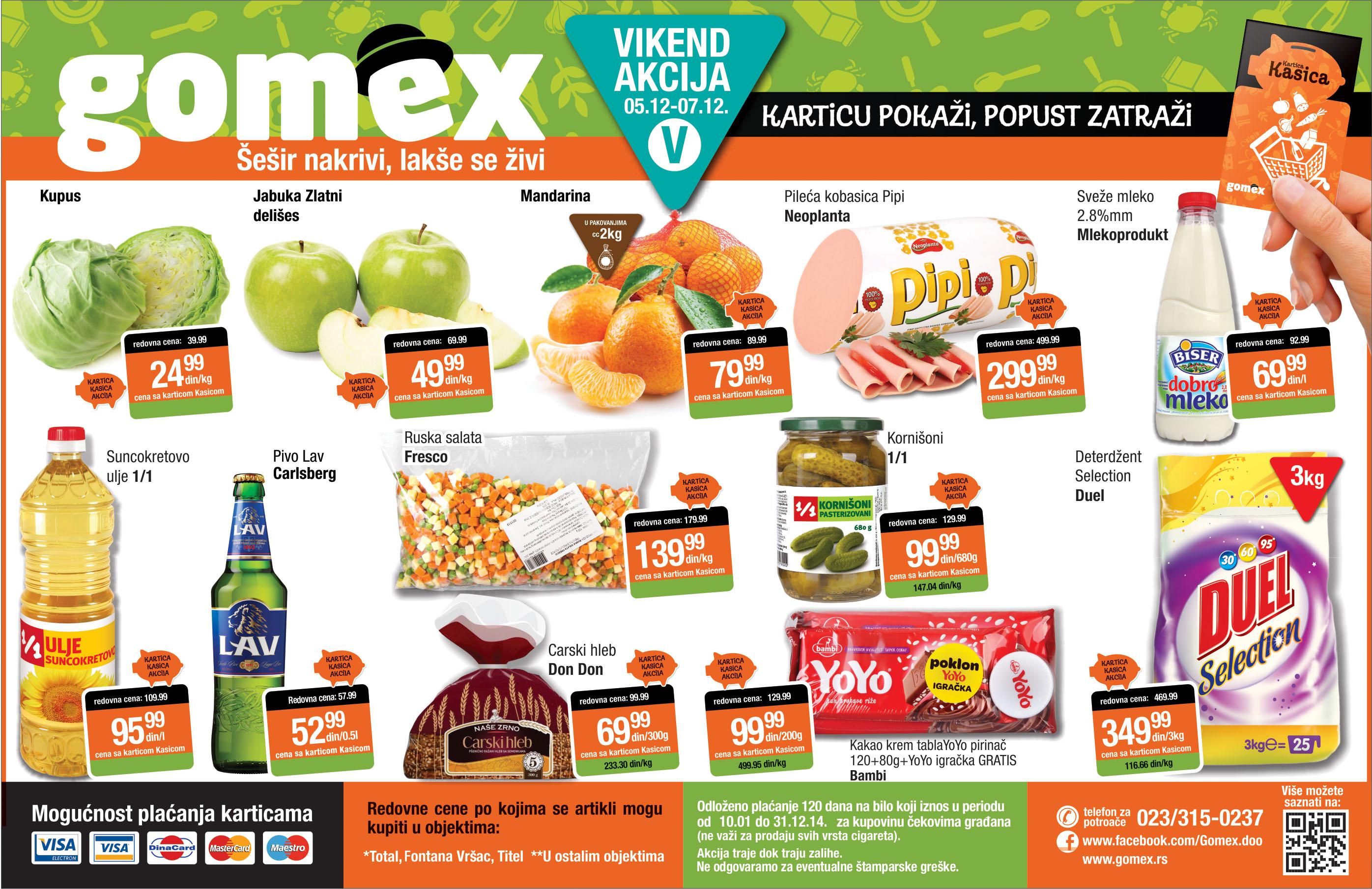 Gomex akcija vikend super ponude kreće