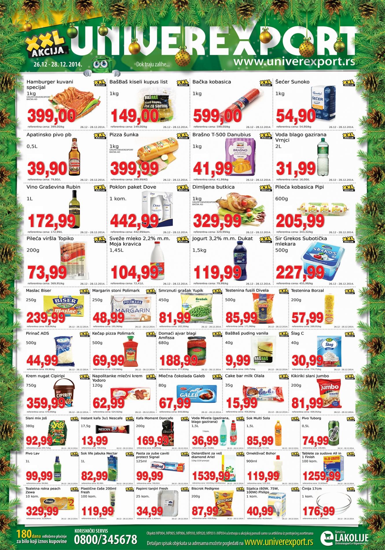 Univerexport akcija vikend novogodišnje kupovine
