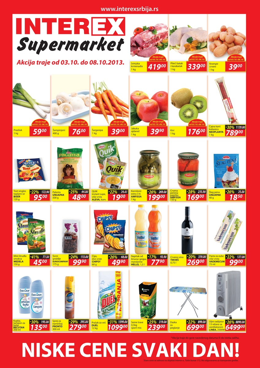 Interex katalog super cena