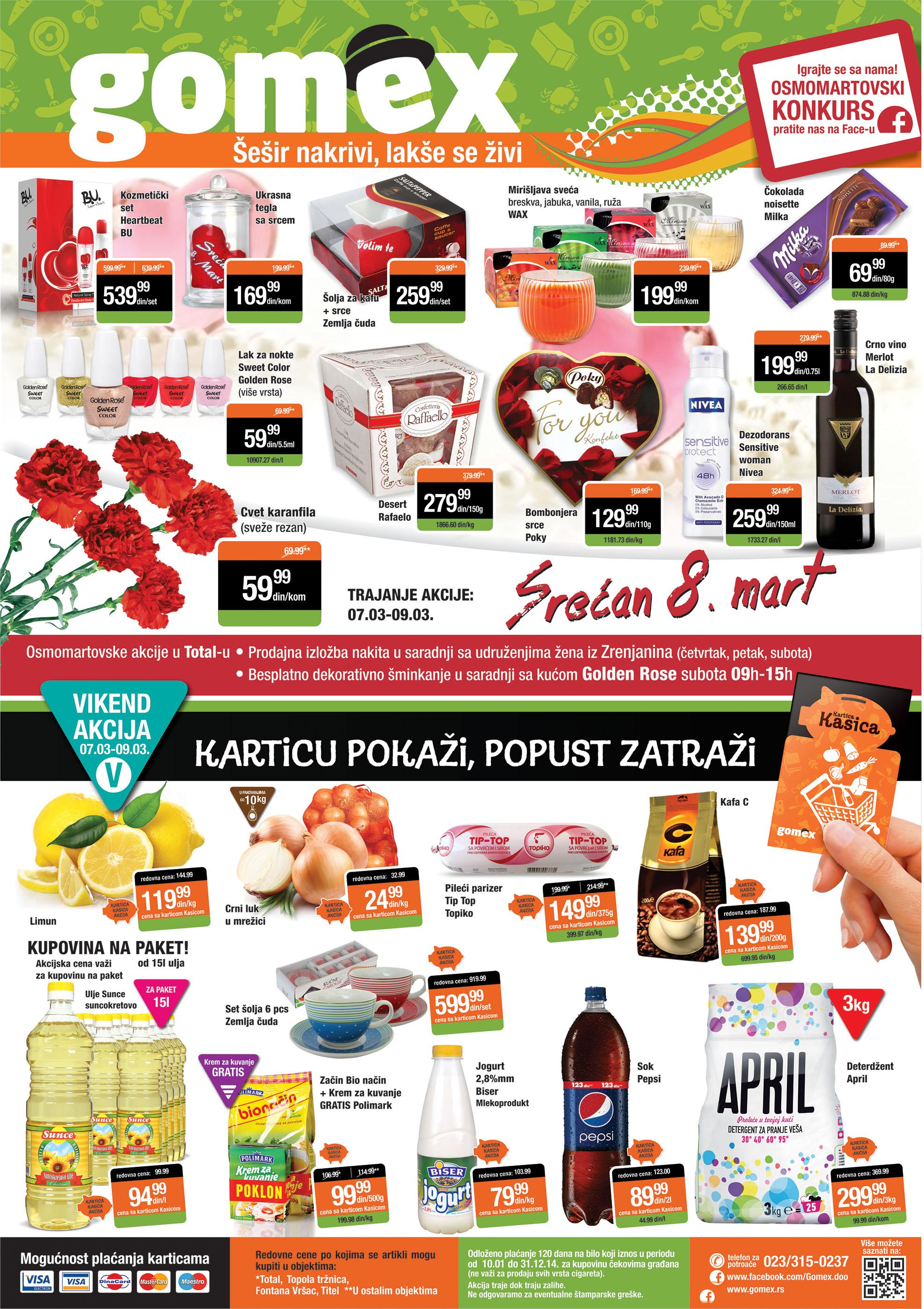 Gomex katalog vikend super cena u Zrenjaninu