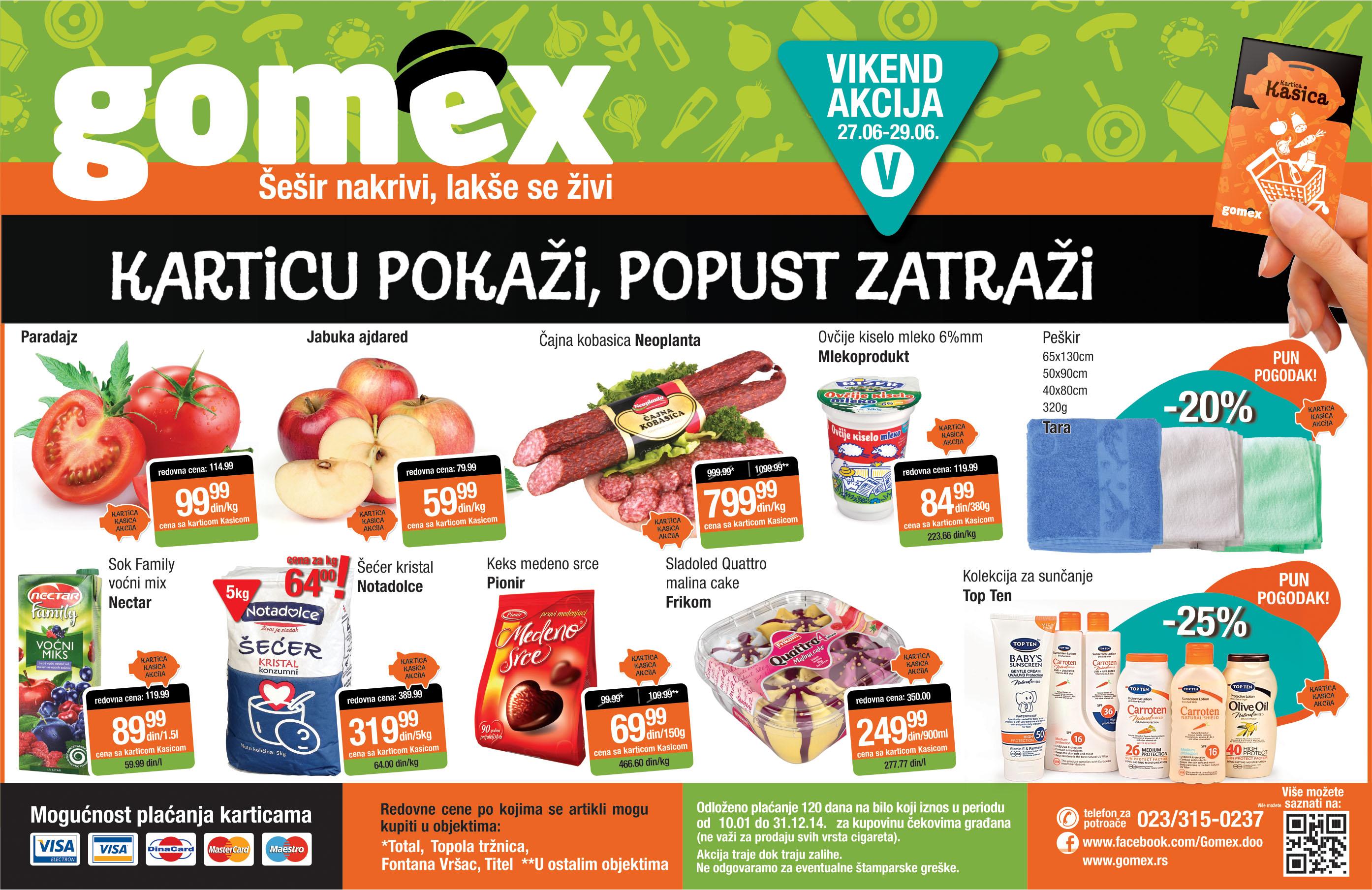 Gomex akcija vikend dobre ponude