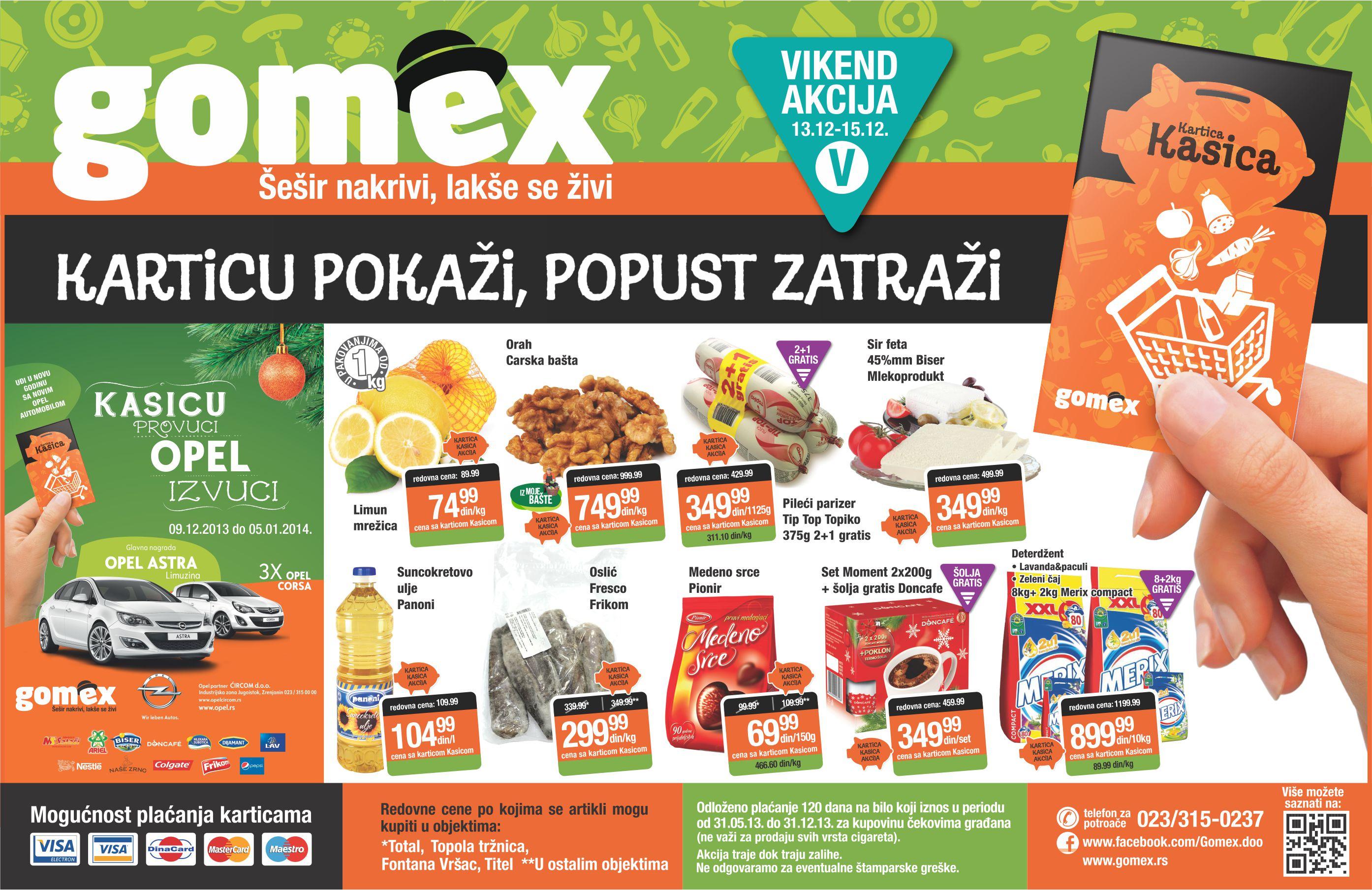 Gomex katalog vikend super cena za vas