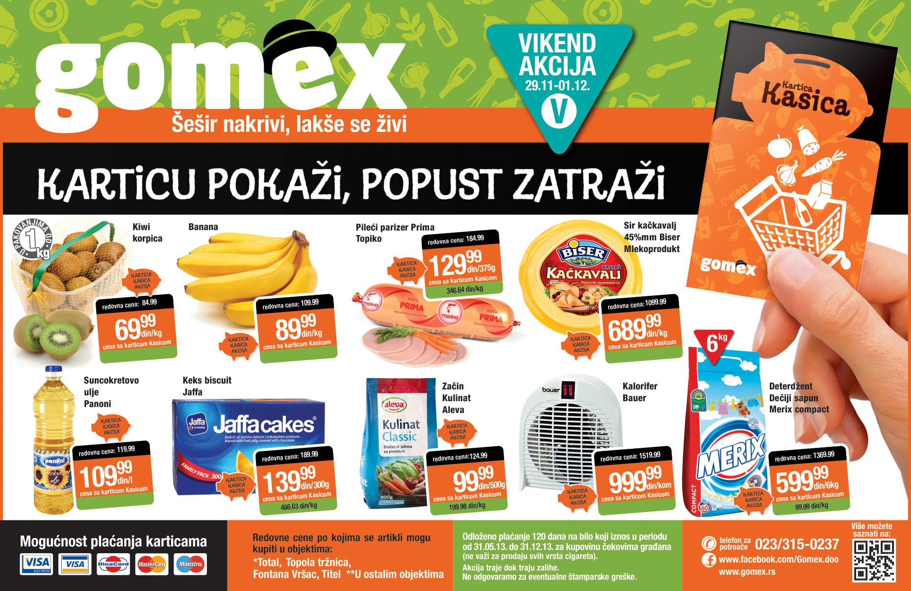 Gomex katalog počinje vikend dobrih cena