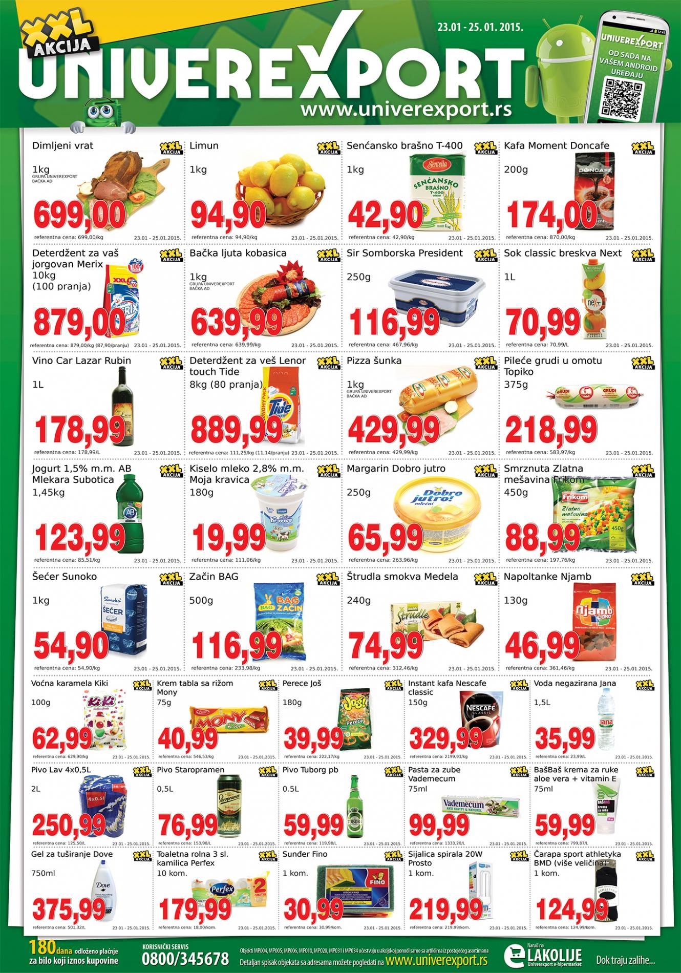 Univerexport akcija vikend sjajnih cena je spemna