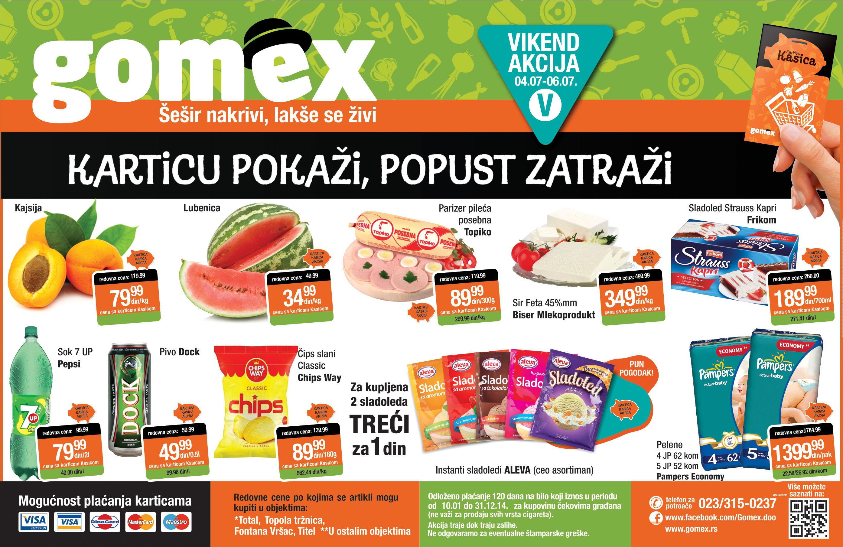 Gomex akcija vikend sjajnih cena samo  za vas