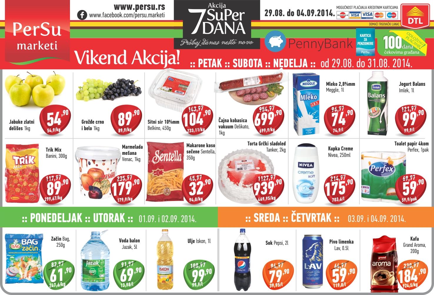 Persu akcija nedelja odlične kupovine