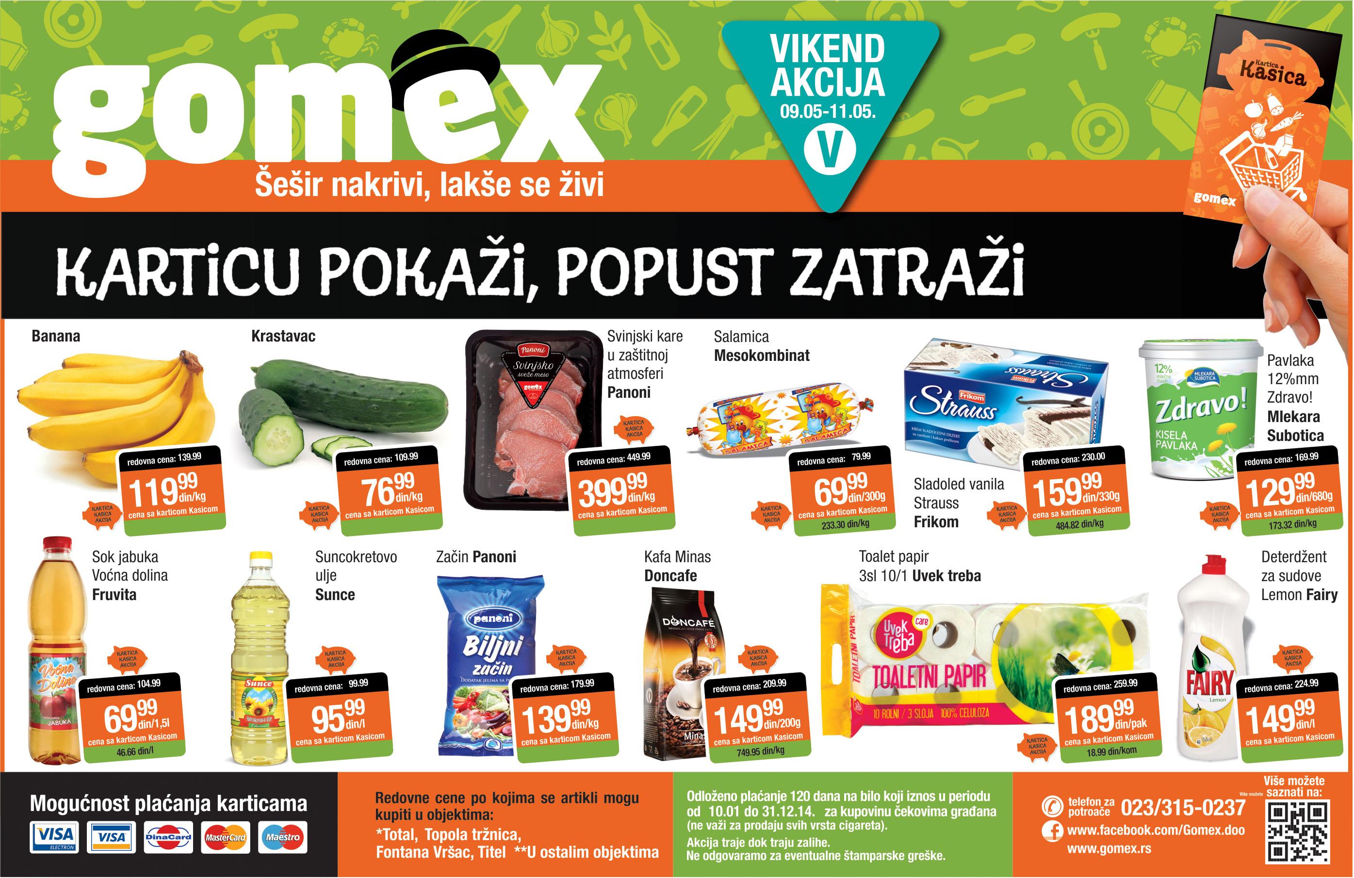 Gomex akcija niskih cena