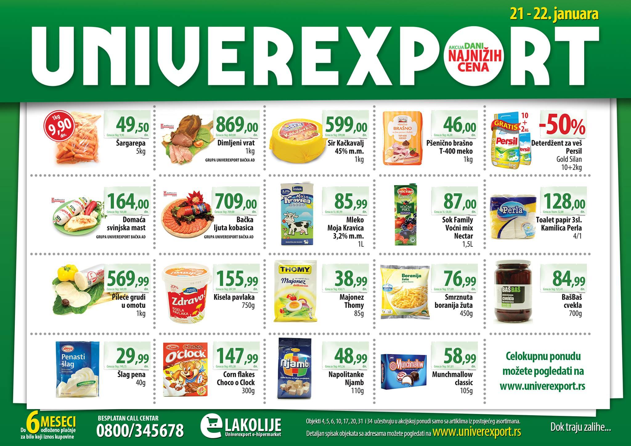 Univerexport katalog najnižih cena za vas
