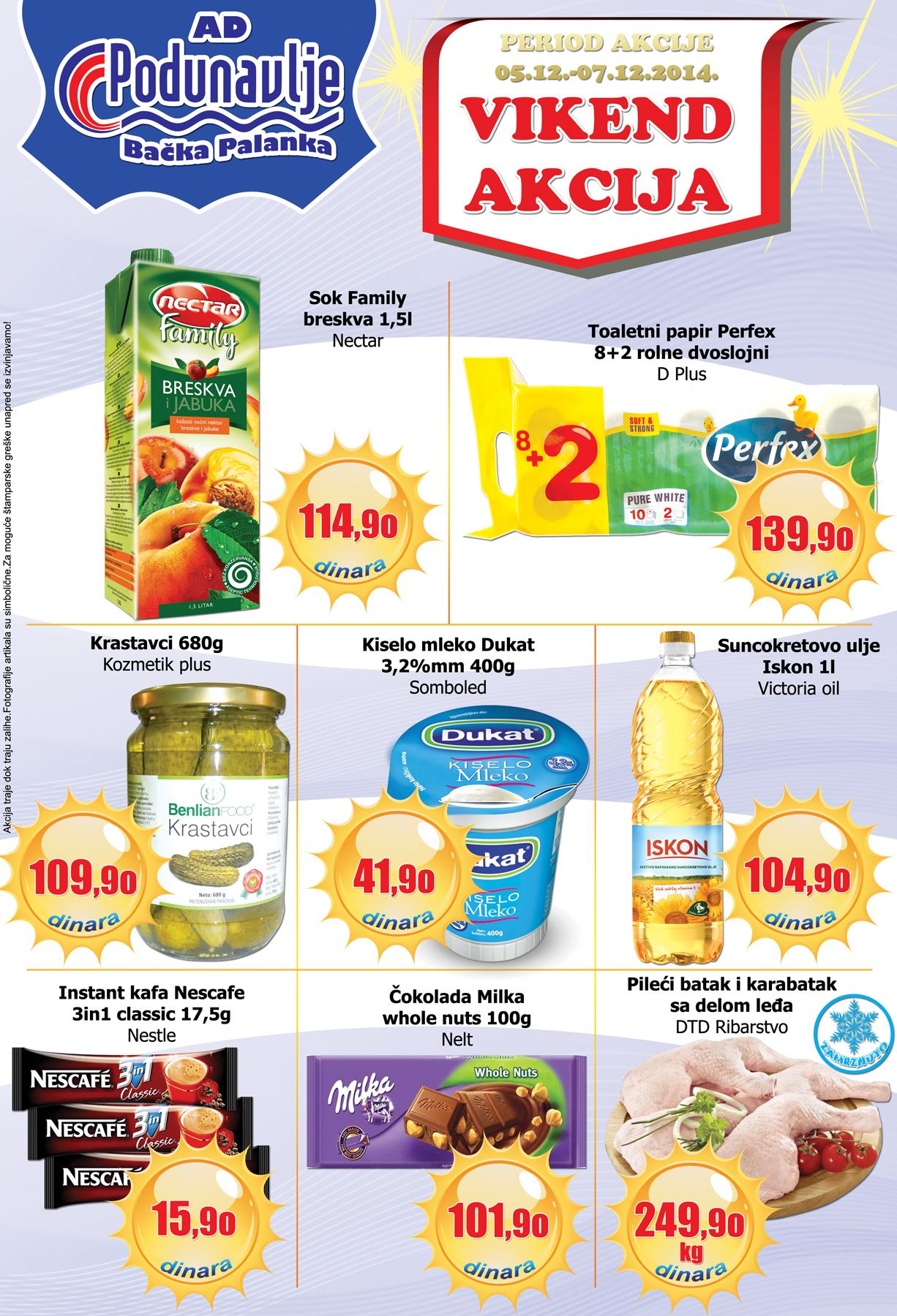 AD Podunavlje akcija vikend niskih cena