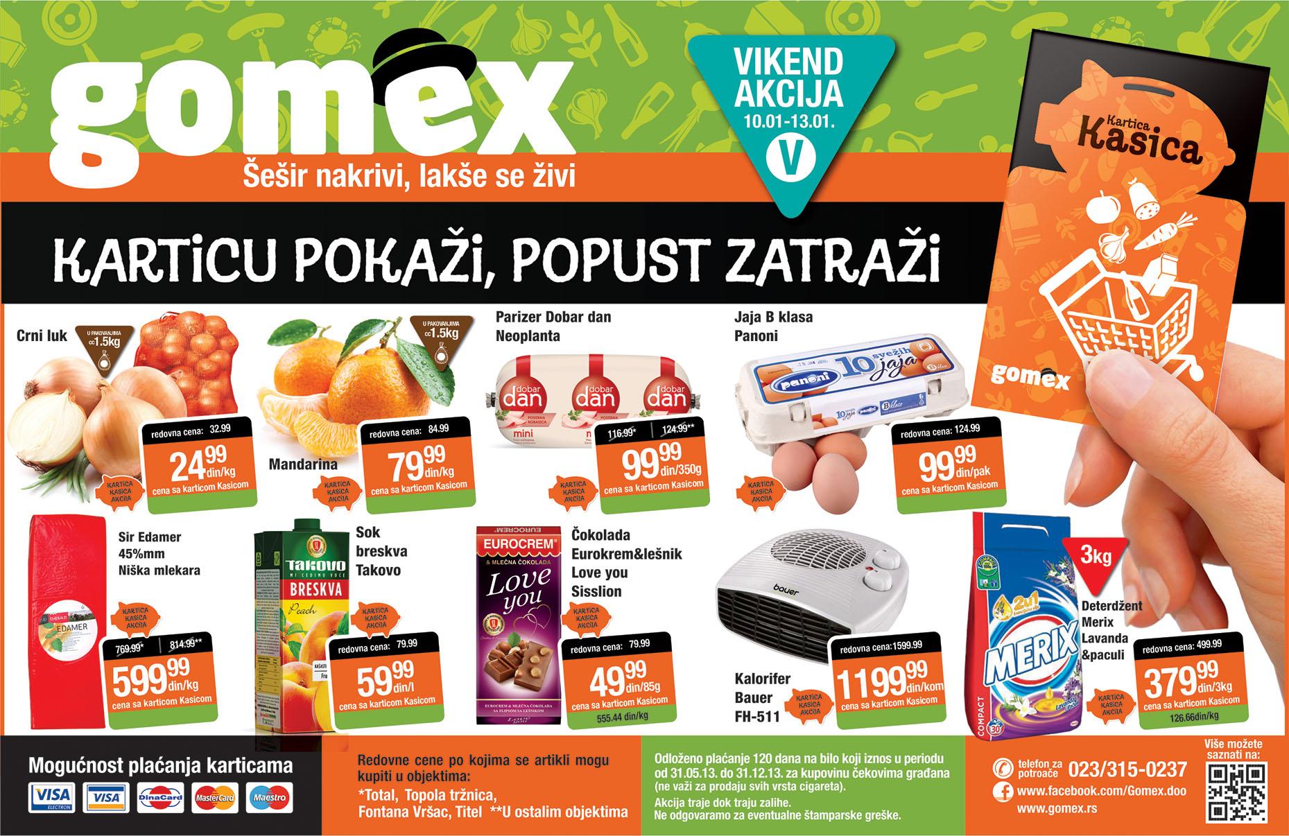 Gomex katalog vikend prazničnih cena