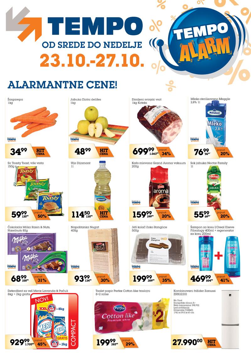 Tempo katalog najpovoljnije cene od srede do nedelje