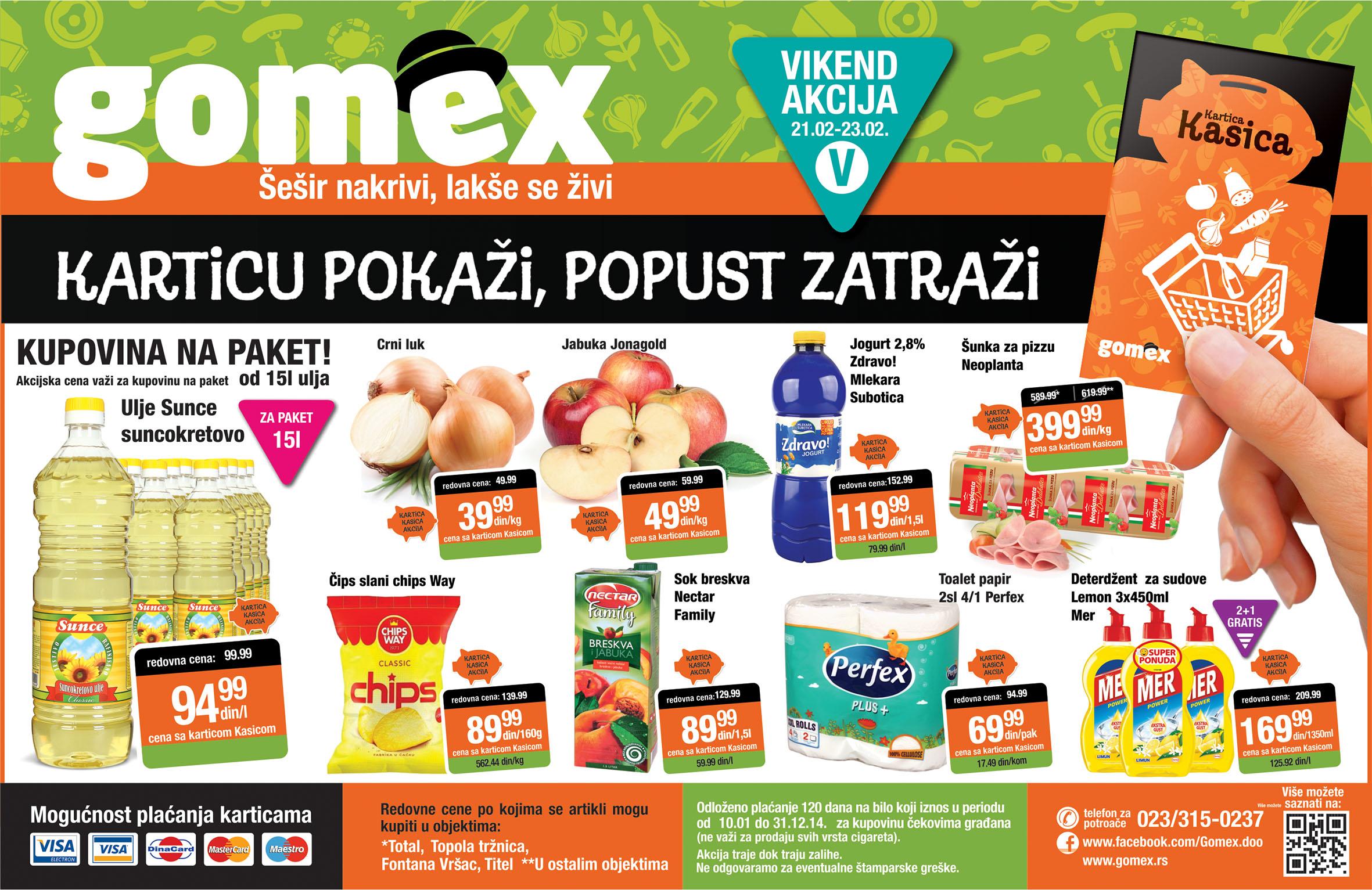 Gomex katalog vikend super cene