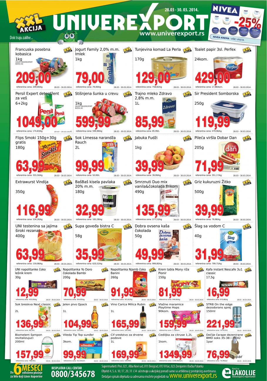 Univerexport akcija vikend super cena za vas