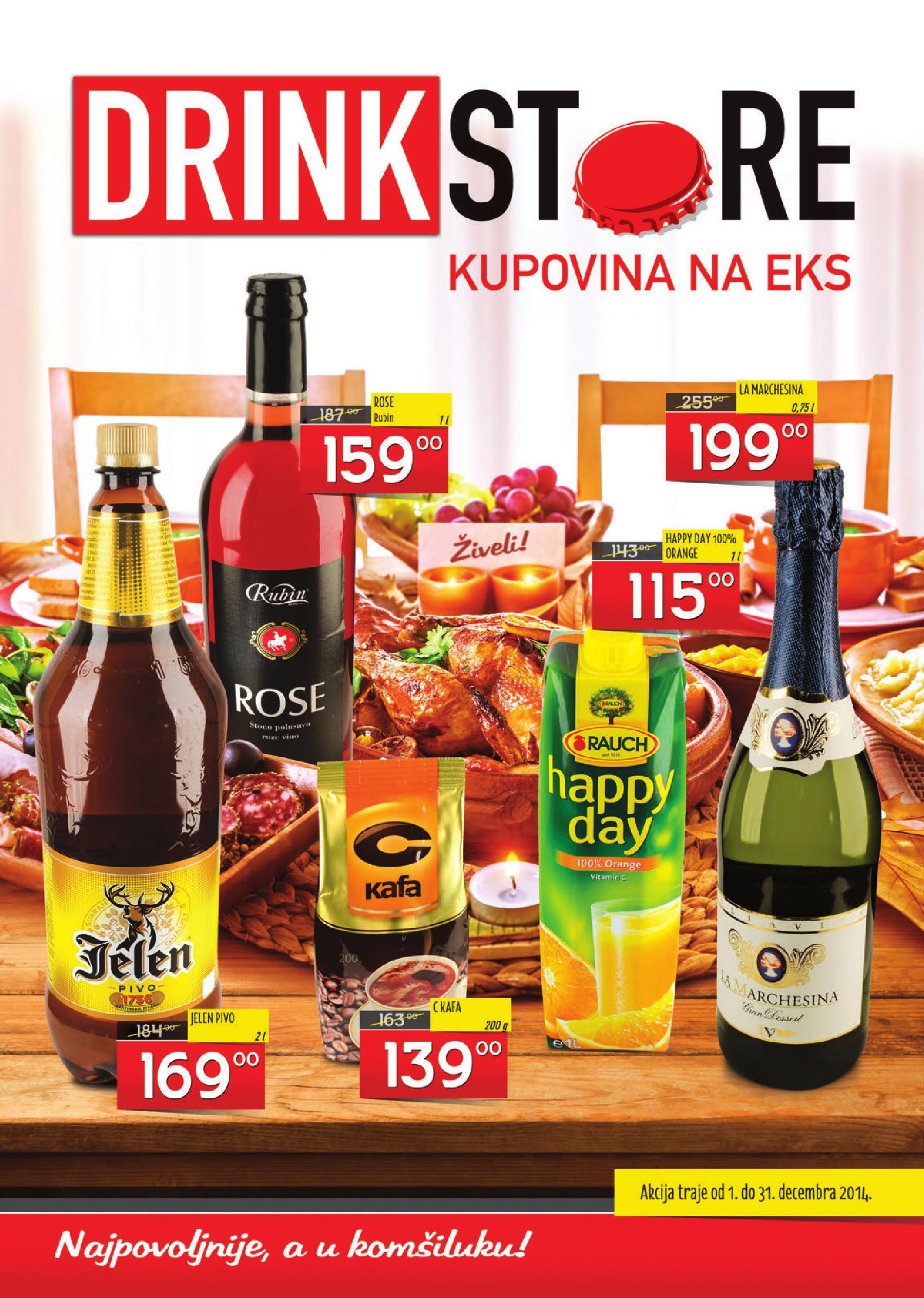 Drink Store akcija decembarske ponude