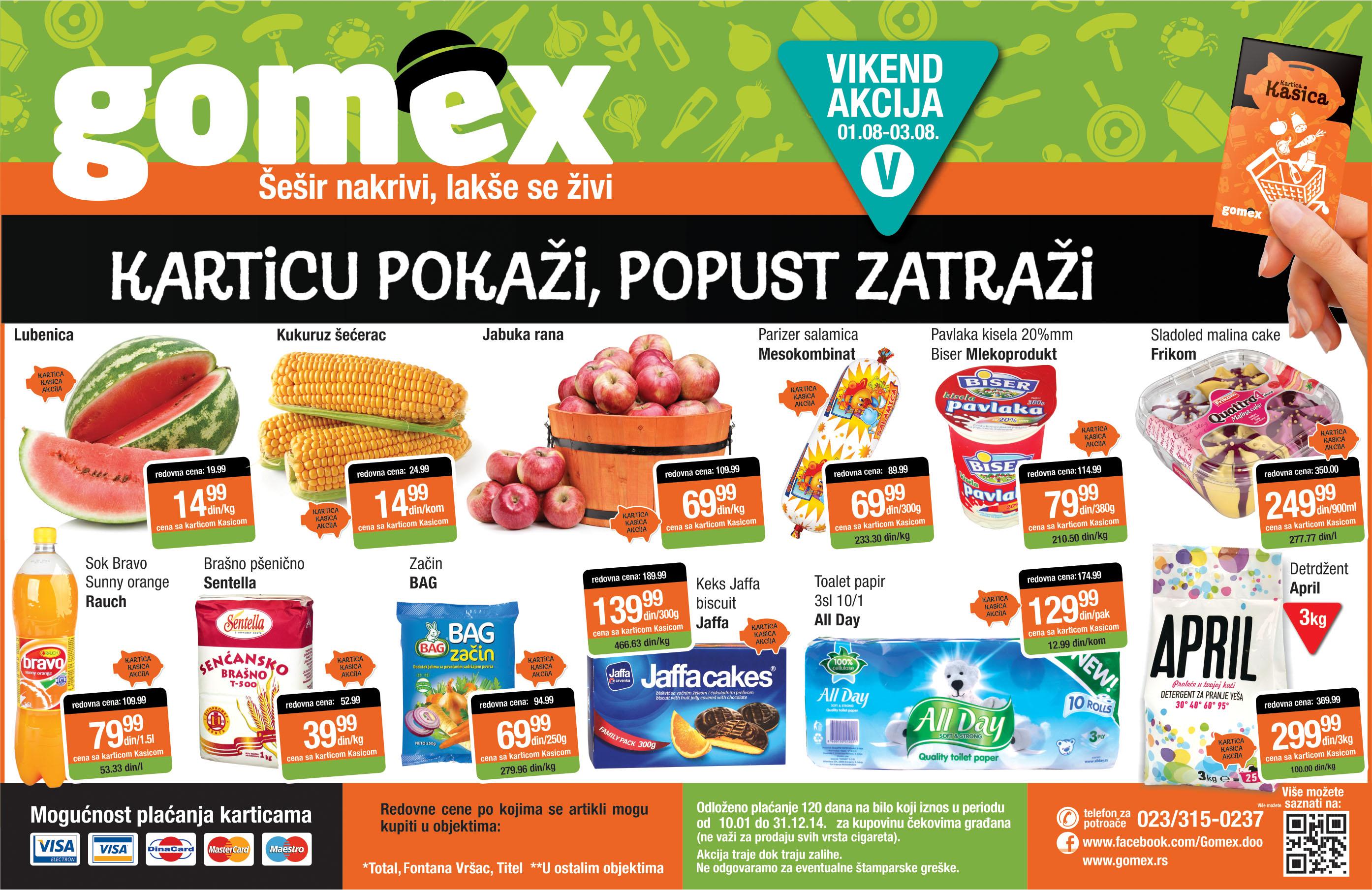 Gomex akcija vikend super kupovine za vas