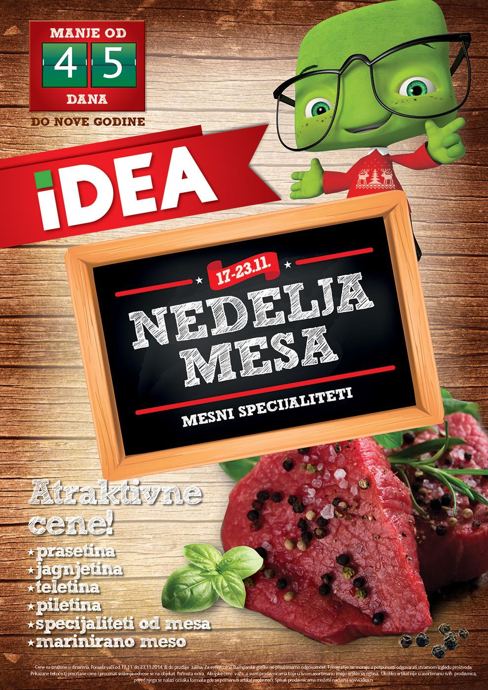 Idea akcija nedelja mesa