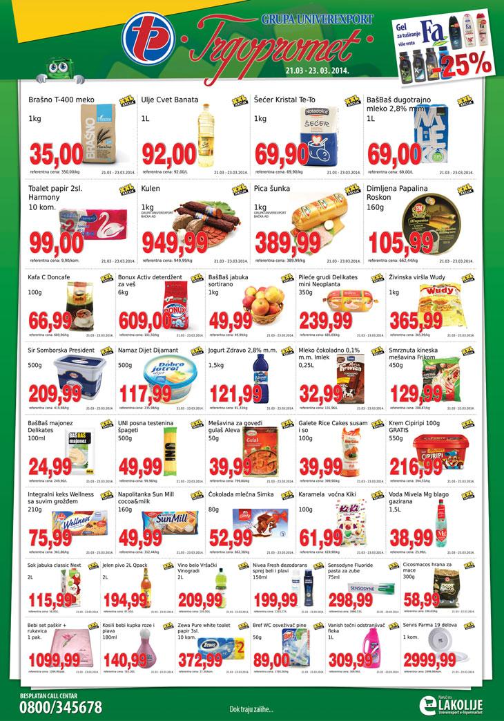 Trgopromet katalog vikend super cena za vas
