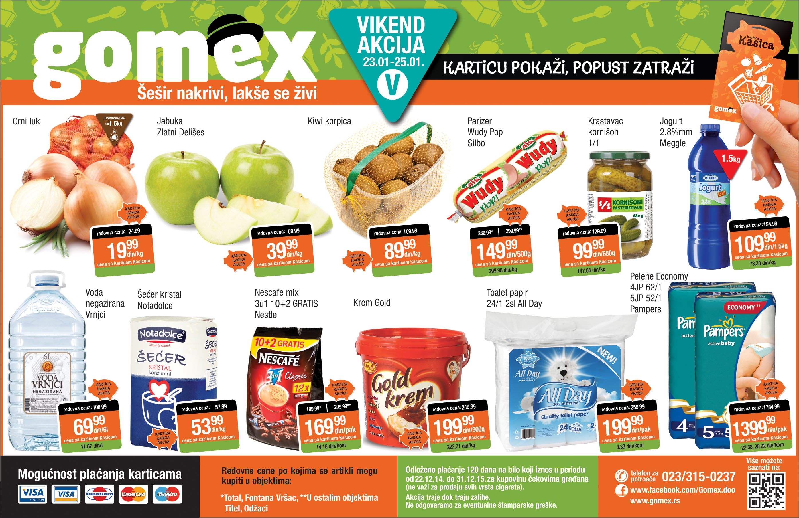 Gomex akcija vikend odlične ponude počinje za vas