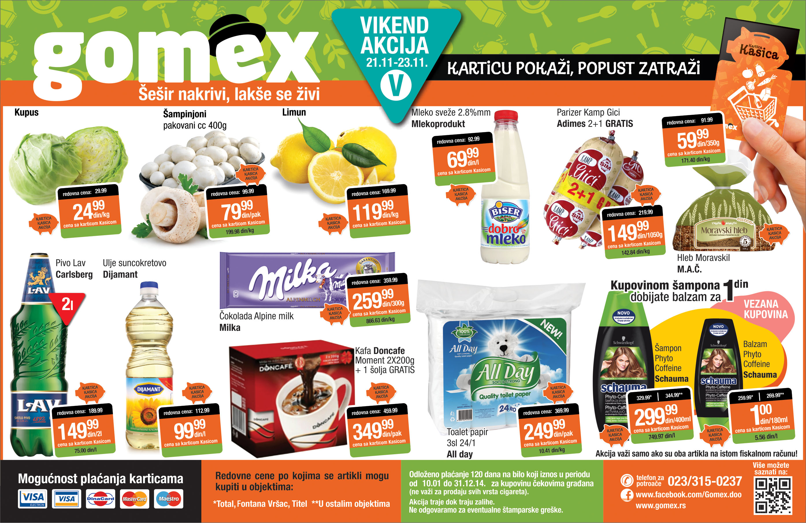 Gomex akcija vikend sjajnih cena je spremna