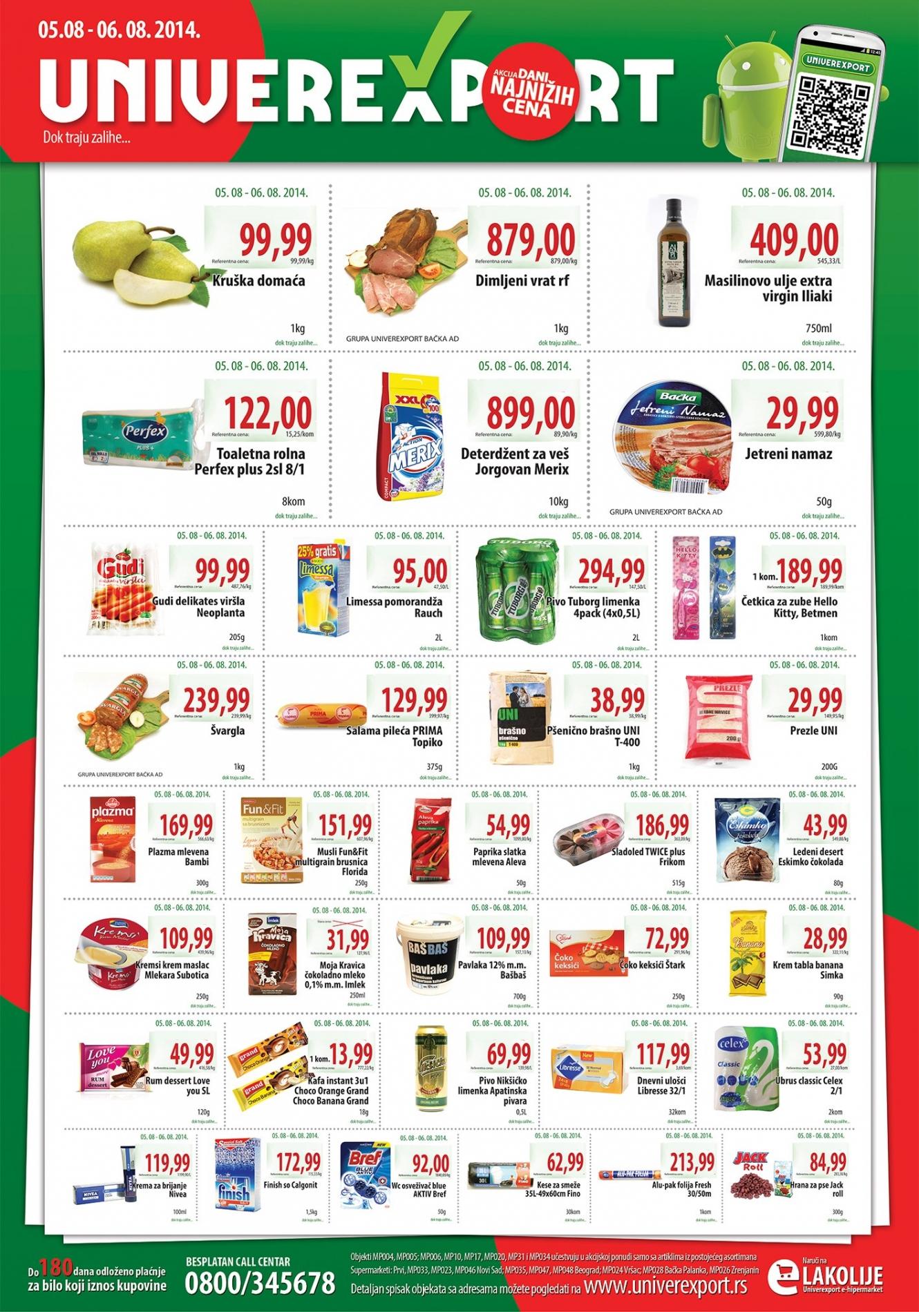 Univerexport akcija niske cene u utorak i sredu