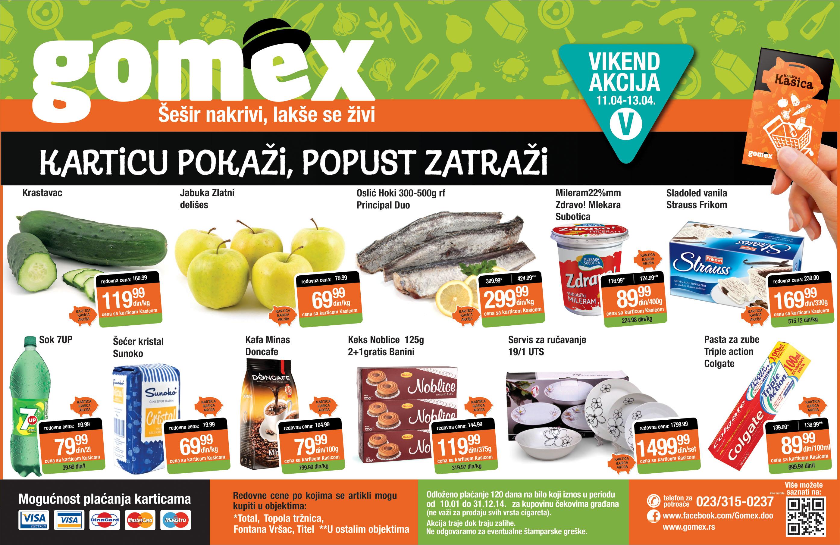 Gomex super akcije ovog vikenda