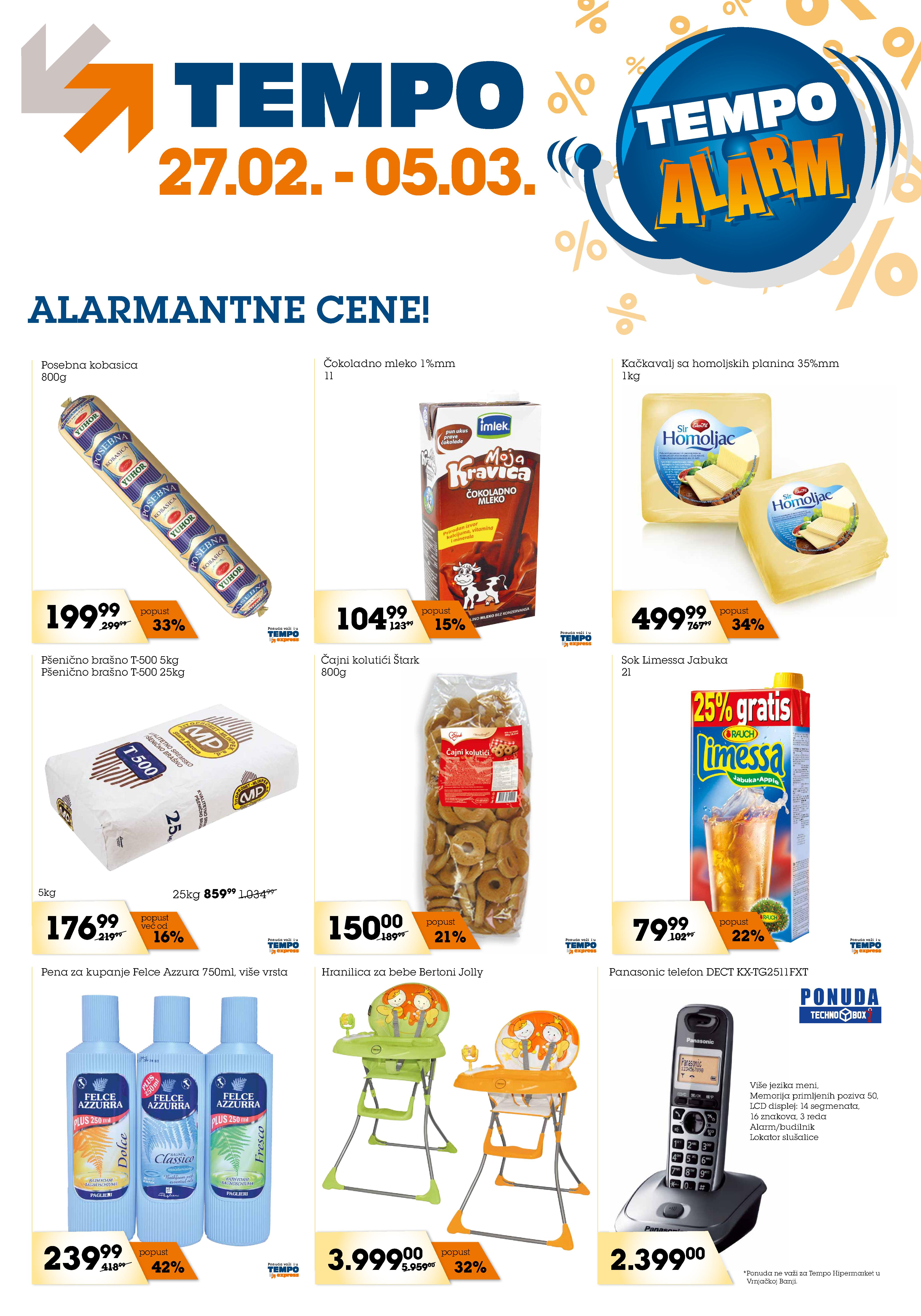 Tempo katalog alarm odličnih cena