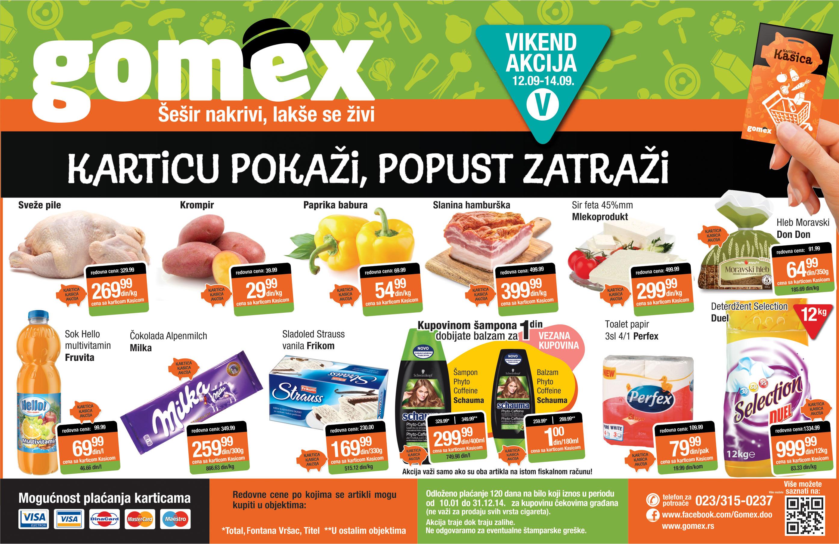 Gomex akcija vikend dobrih cena za vas