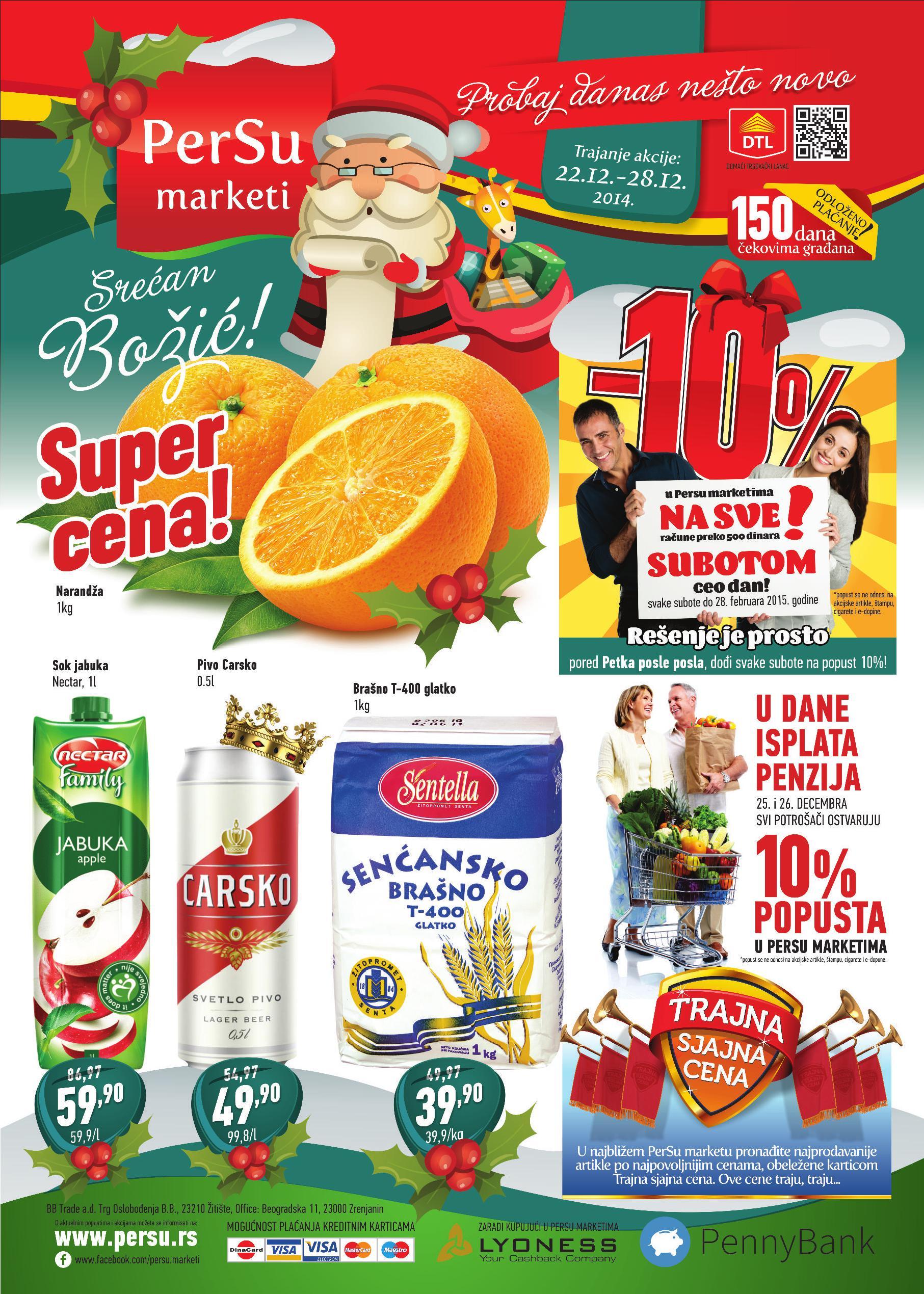 Persu akcija nedelja praznične kupovine