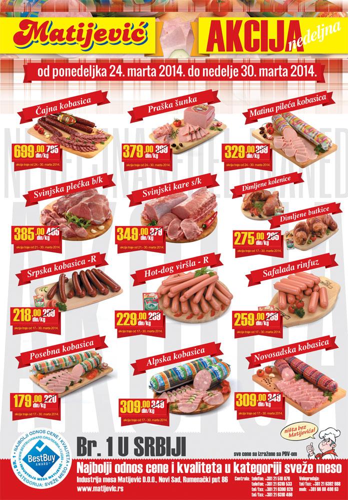Matijević katalog povoljna ponuda mesa