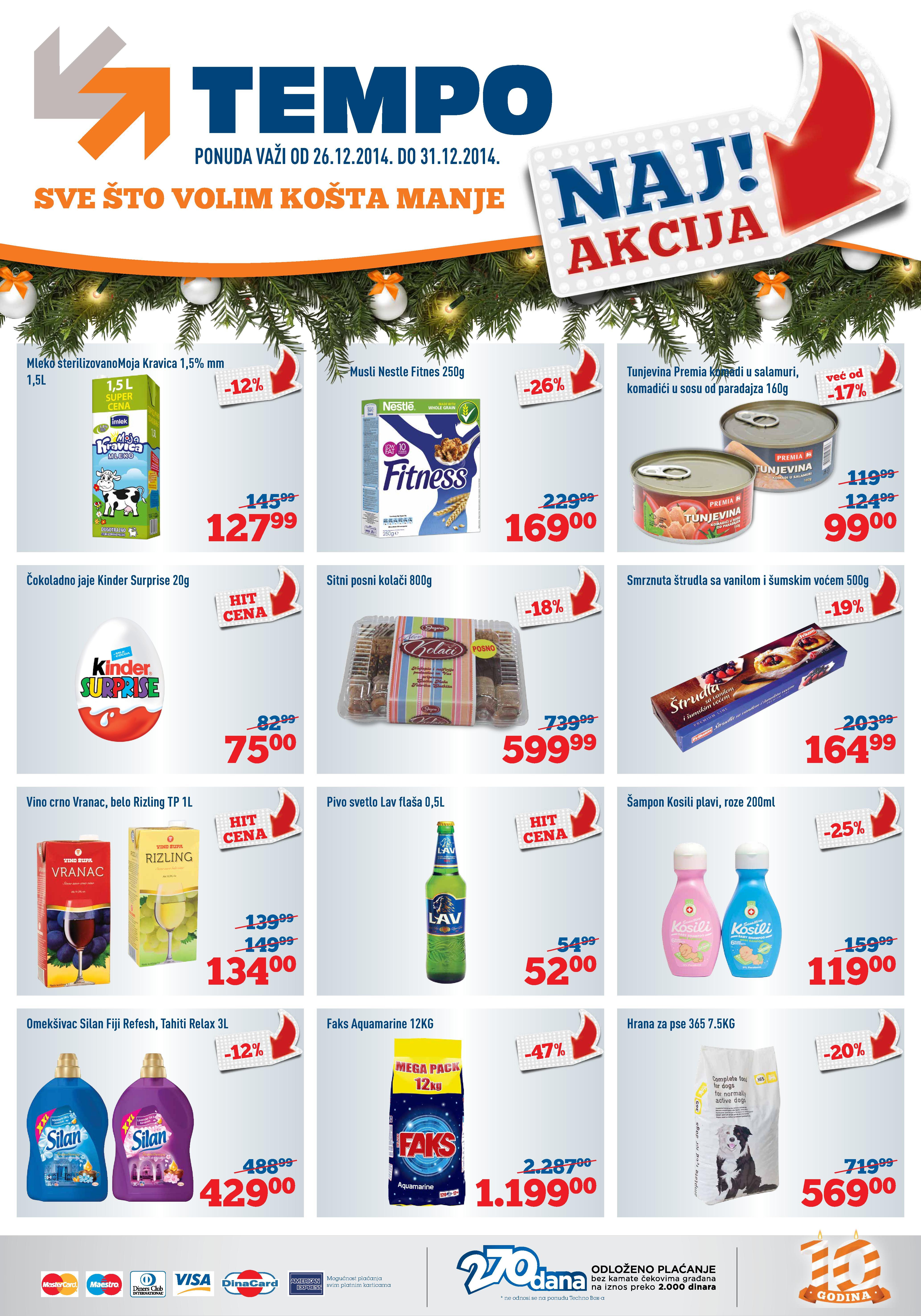 Tempo akcija novogodišnja nedelja super cena