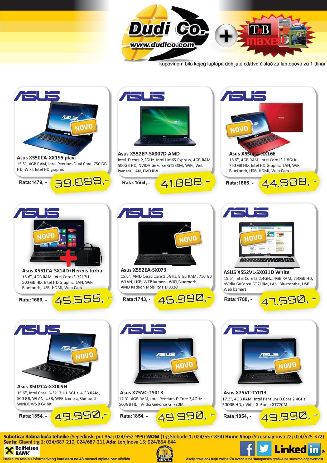 Dudico akcija laptop uređaji na popustu